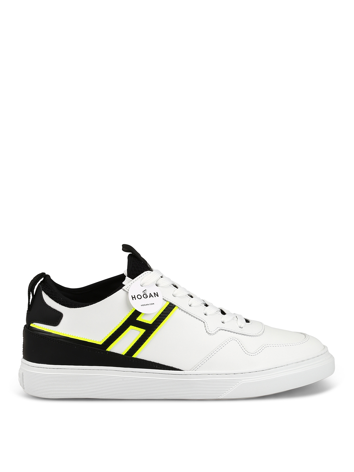 Trainers Hogan - H365 fluo detailed white sneakers ...