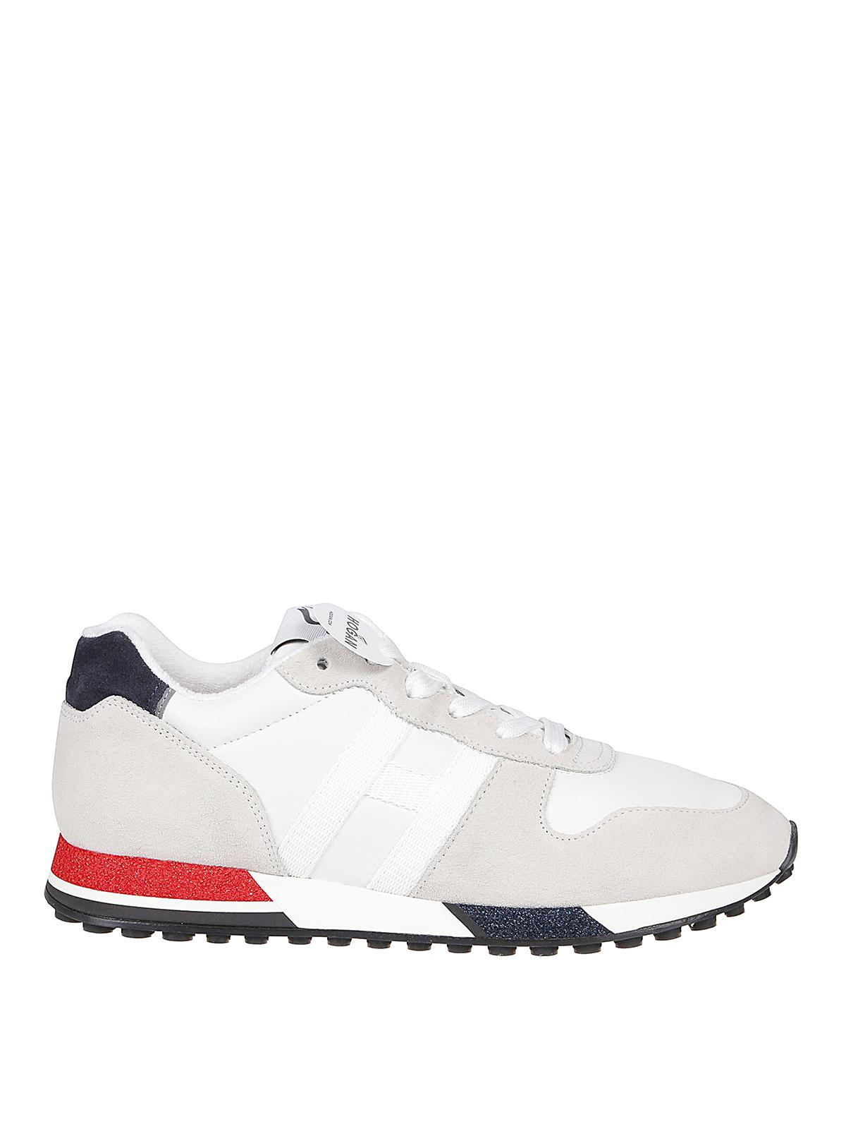Hogan - H383 Retro Running white sneakers - trainers ...