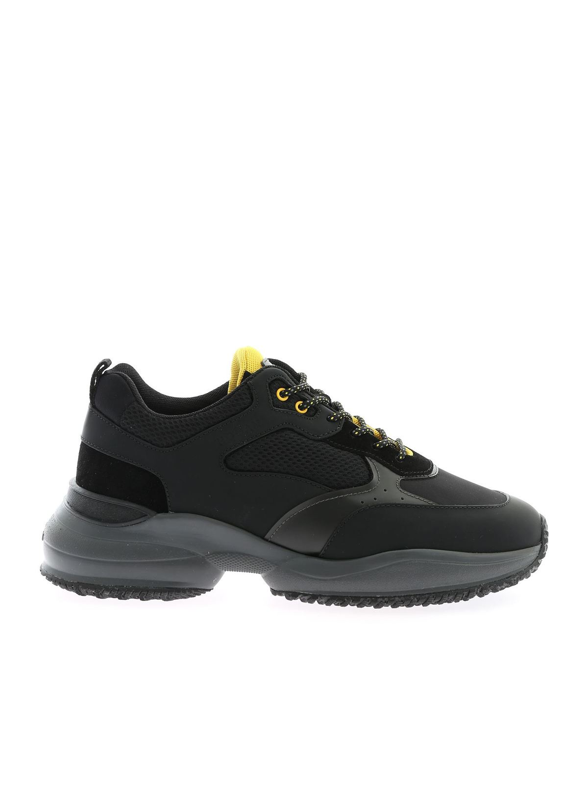 Sneakers Hogan - Sneakers Interaction nere e gialle ...