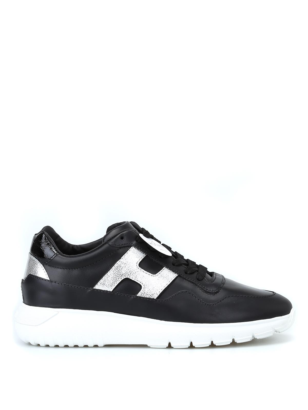 Sneakers Hogan - Sneaker Interactive³ nere e argento ...