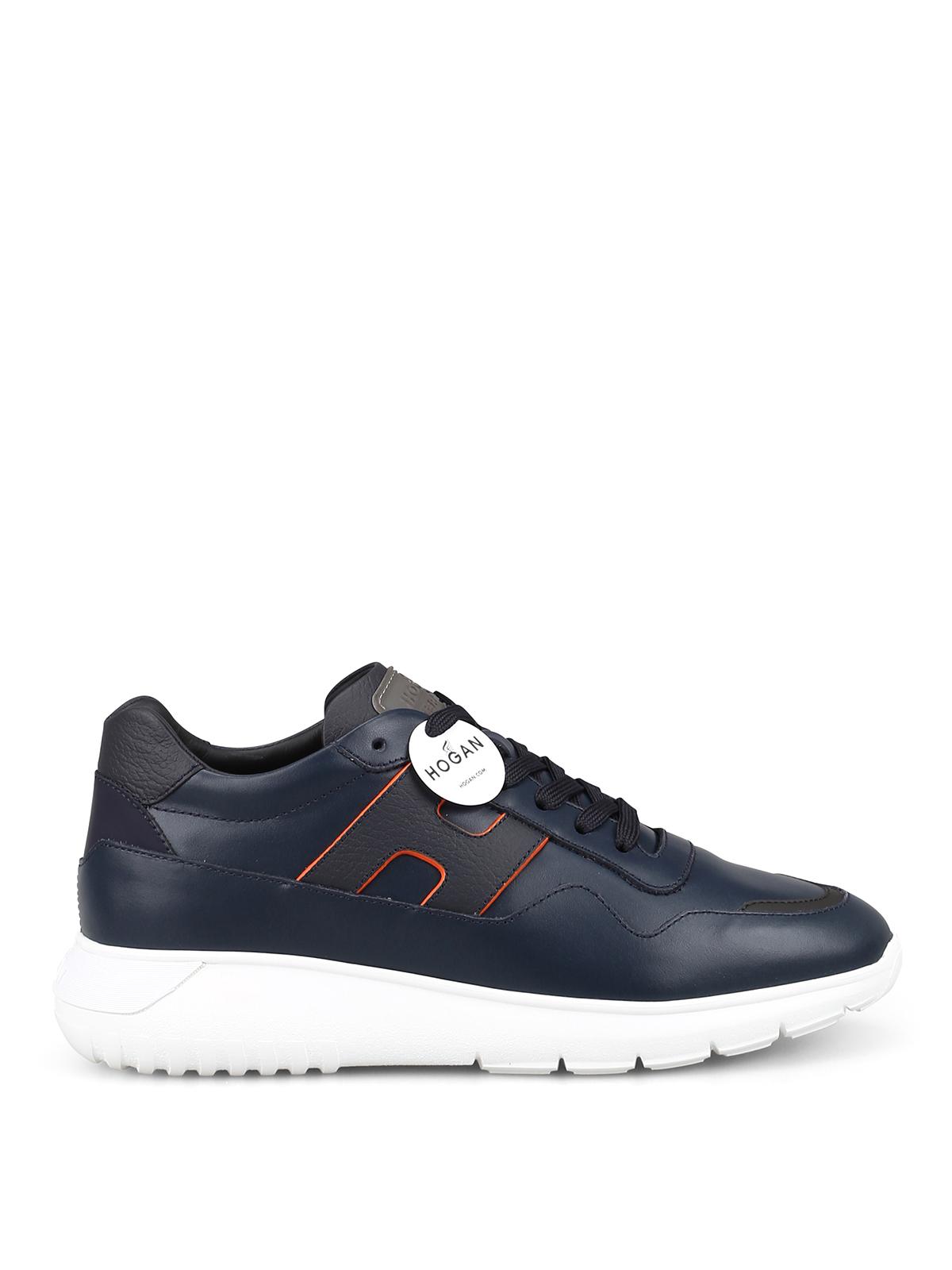 Sneakers Hogan - Sneaker Interactive³ in pelle blu ...