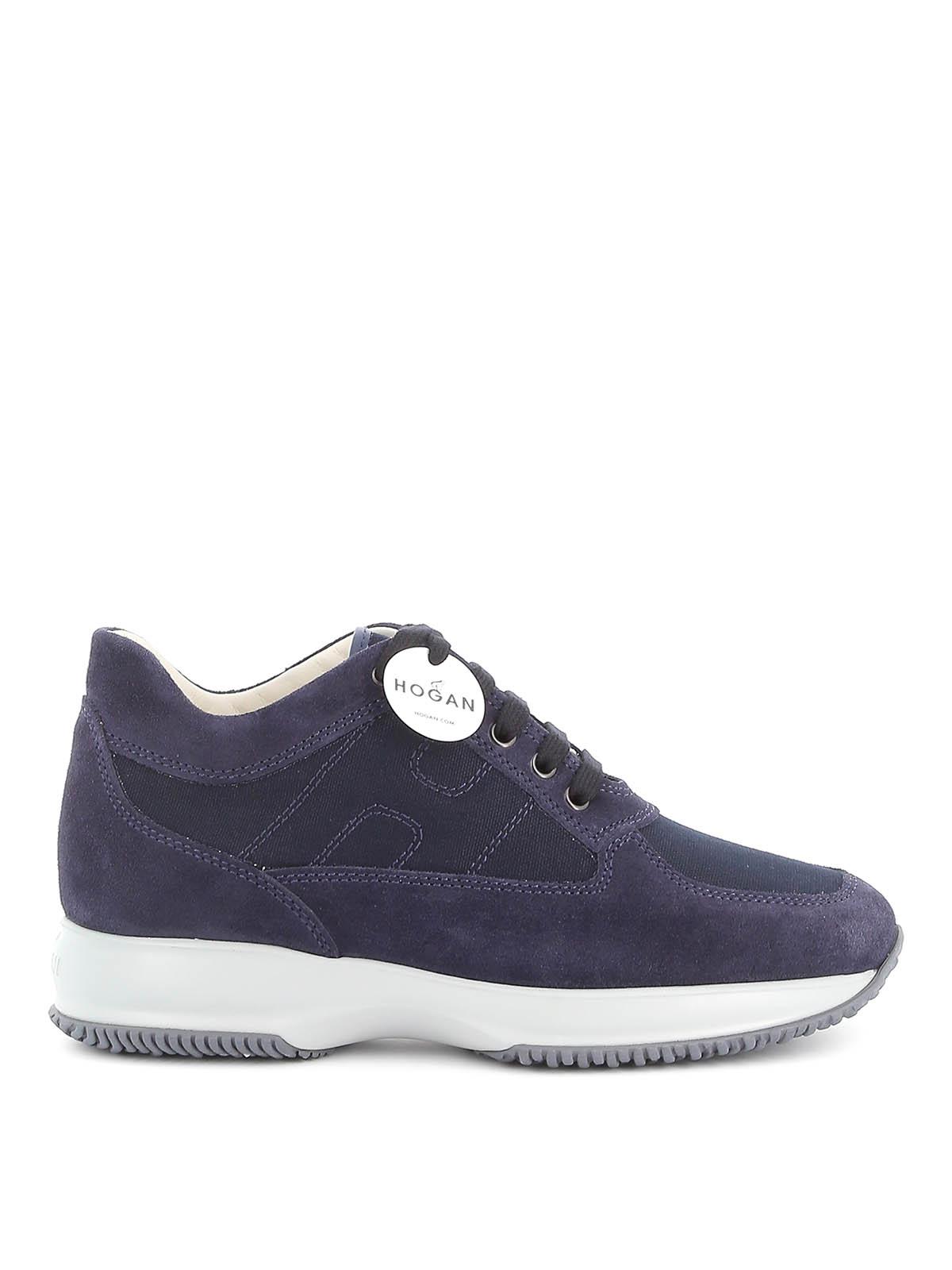 Sneakers Hogan - Interactive in tela e camoscio - HXM00N00E108O6U801