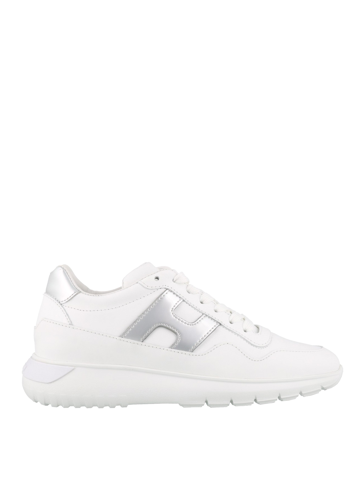 Hogan Interactive Leather Sneakers In White