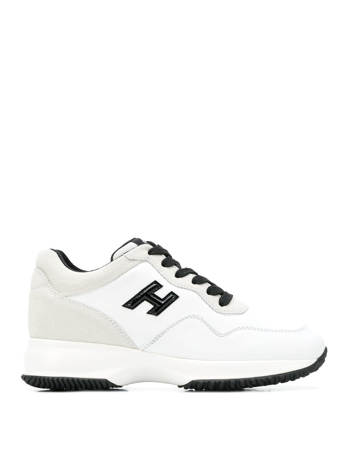 Trainers Hogan - Interactive patent leather H white sneakers ...