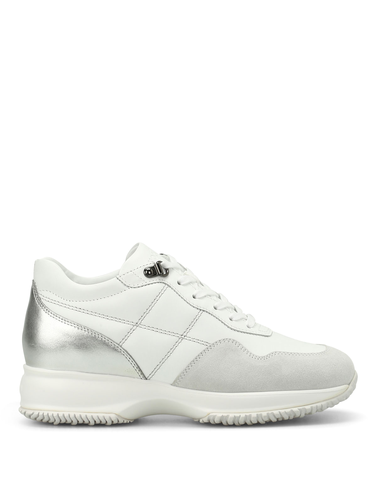 Hogan - Sneaker Interactive bianco argento - sneakers ...