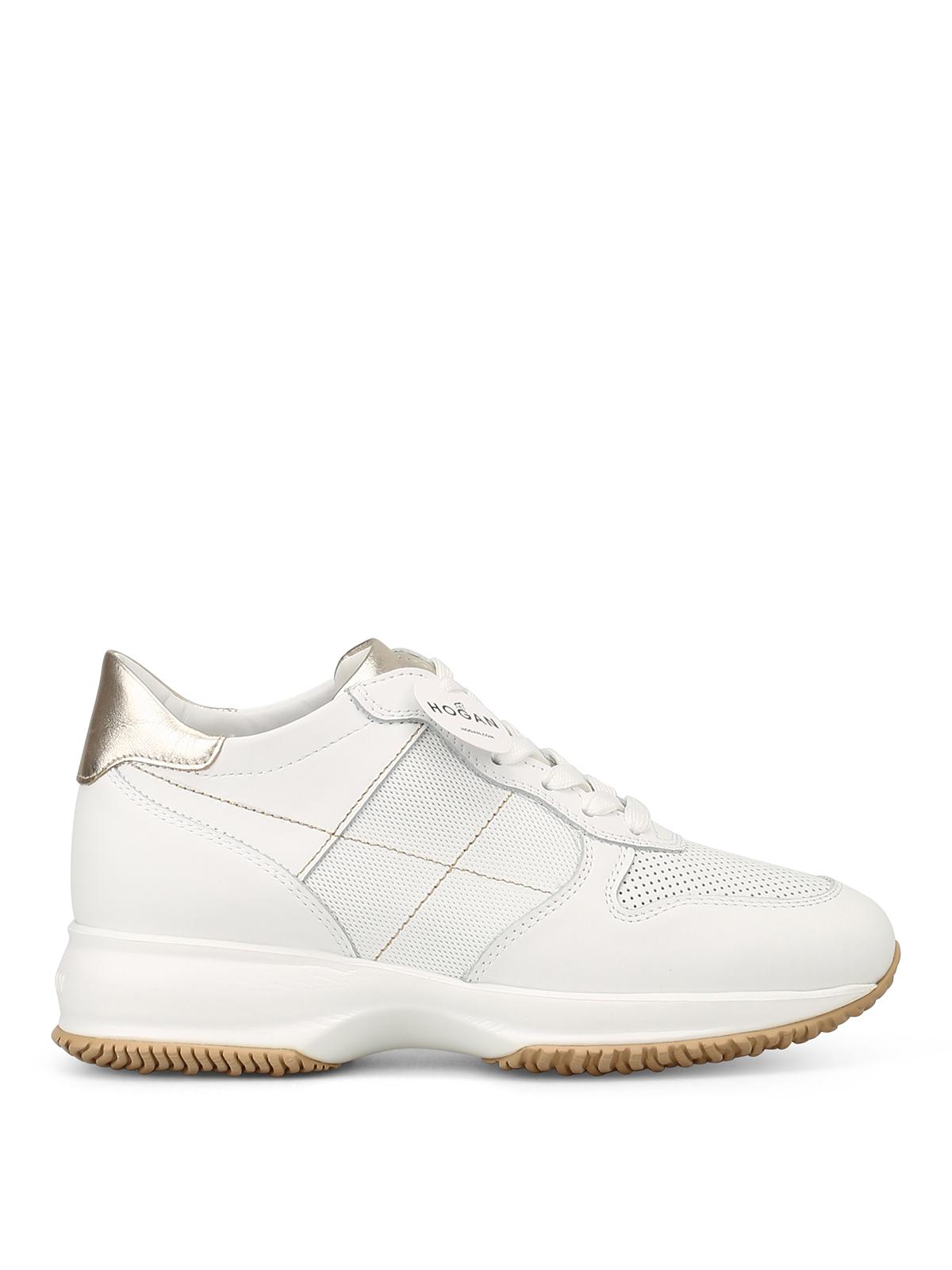 Sneakers Hogan - Interactive in pelle bianca - HXW00N0K620I6W1556