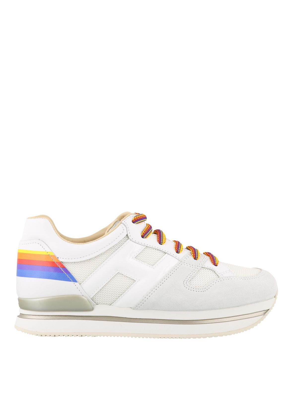 Sneakers Hogan - Sneaker arcobaleno in tessuto e pelle ...