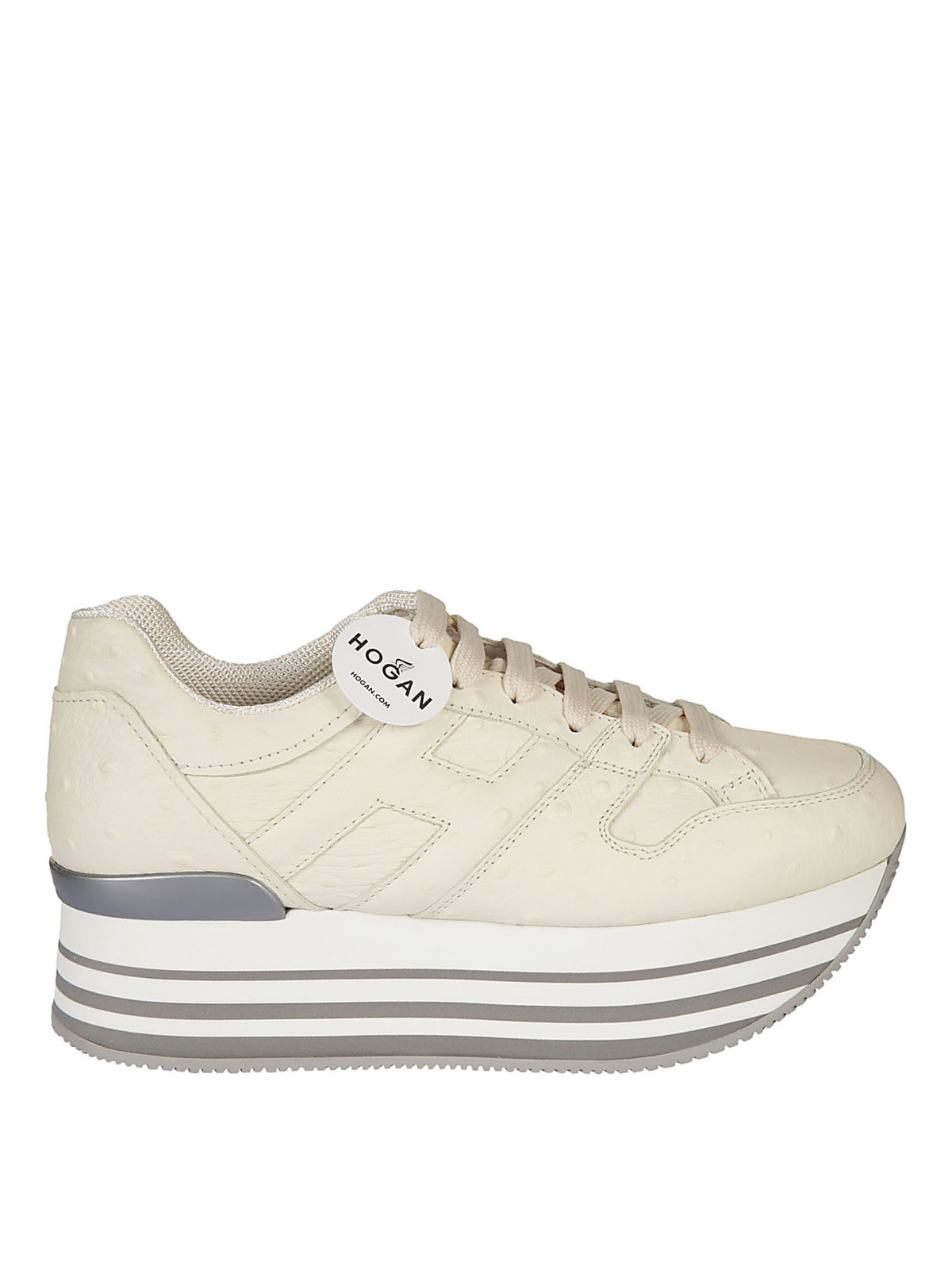 Hogan - Maxi 222 ostrich print sneakers - trainers ...