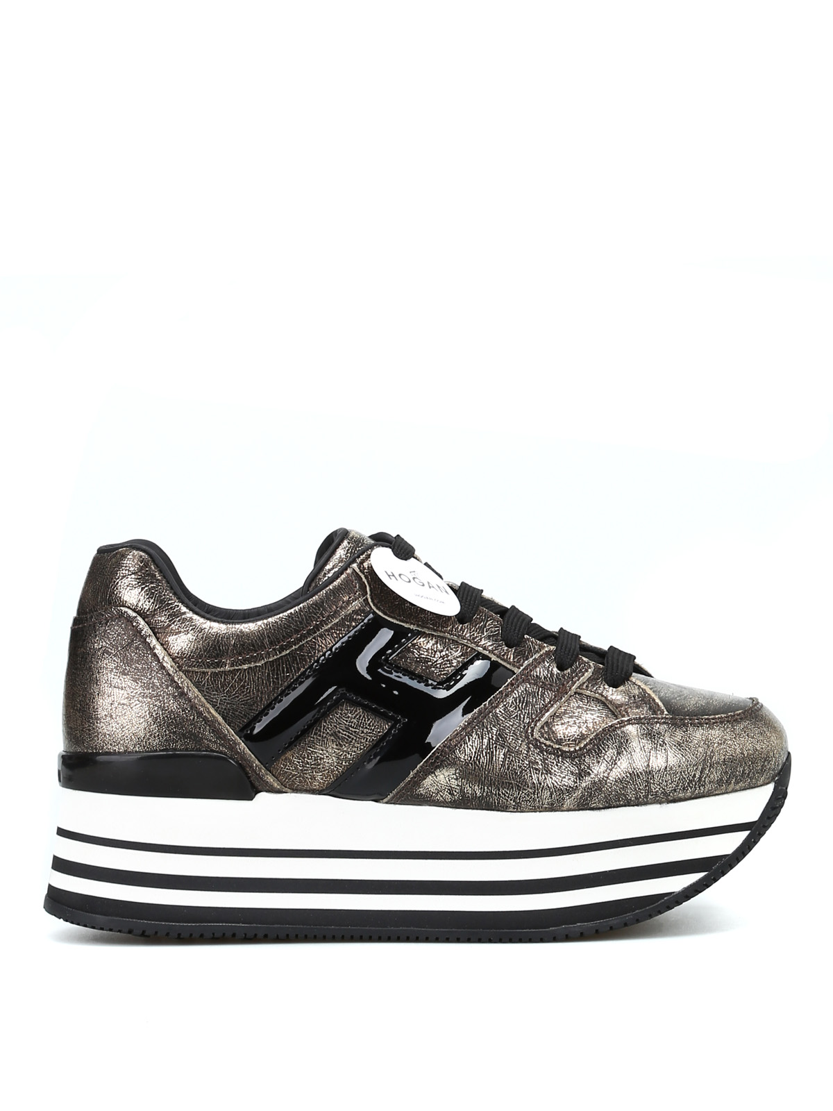 Trainers Hogan - Maxi H222 crackle effect sneakers ...