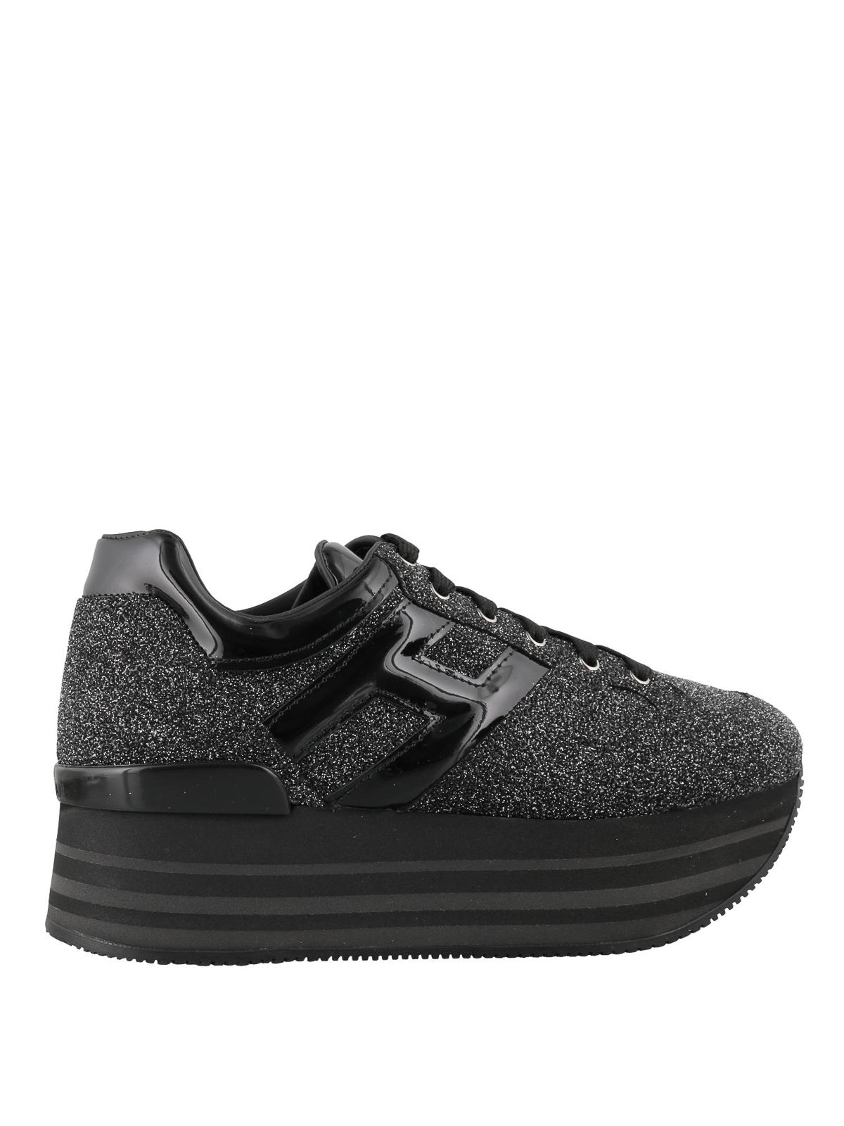 Hogan - Maxi H222 glitter sneakers - trainers - HXW2830T548LNY0ZHC