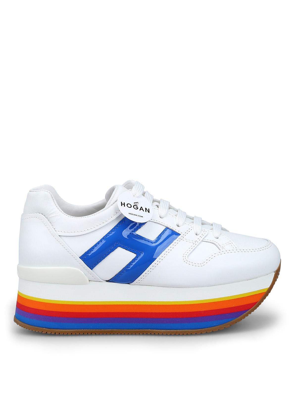 Sneakers Hogan - Sneaker Maxi H222 con zeppa multicolor ...