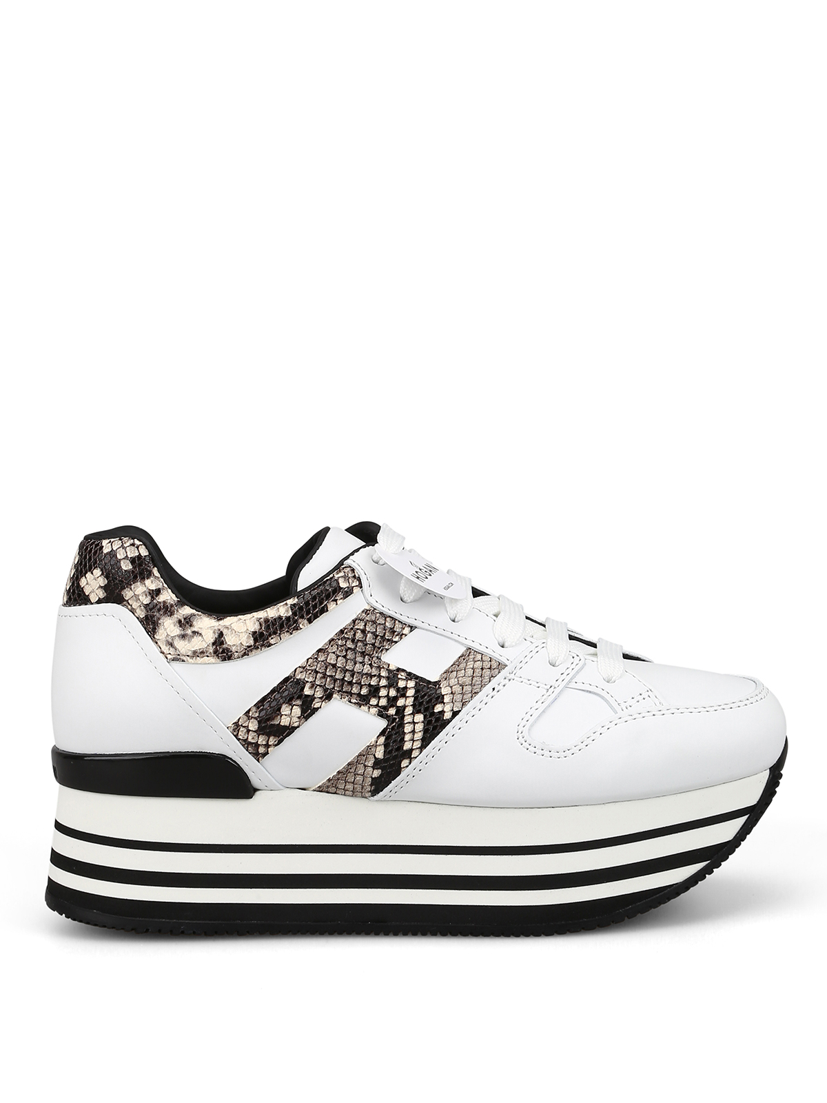 Hogan - Maxi H222 sneakers with reptile print inserts - trainers ...