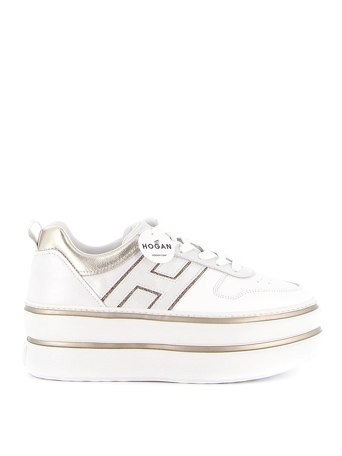 Trainers Hogan - Maxi H449 leather sneakers - HXW4490CO10N6A1556