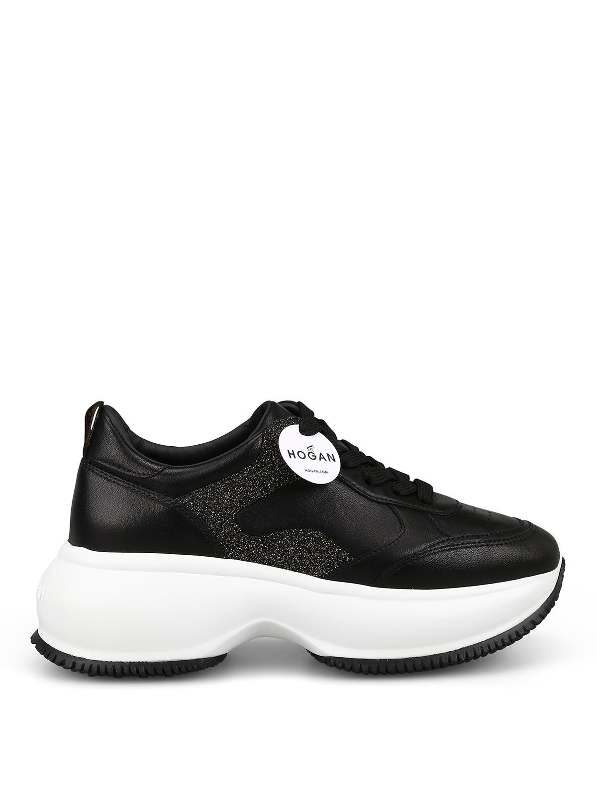 Trainers Hogan - Maxi I Active black glitter sneakers ...