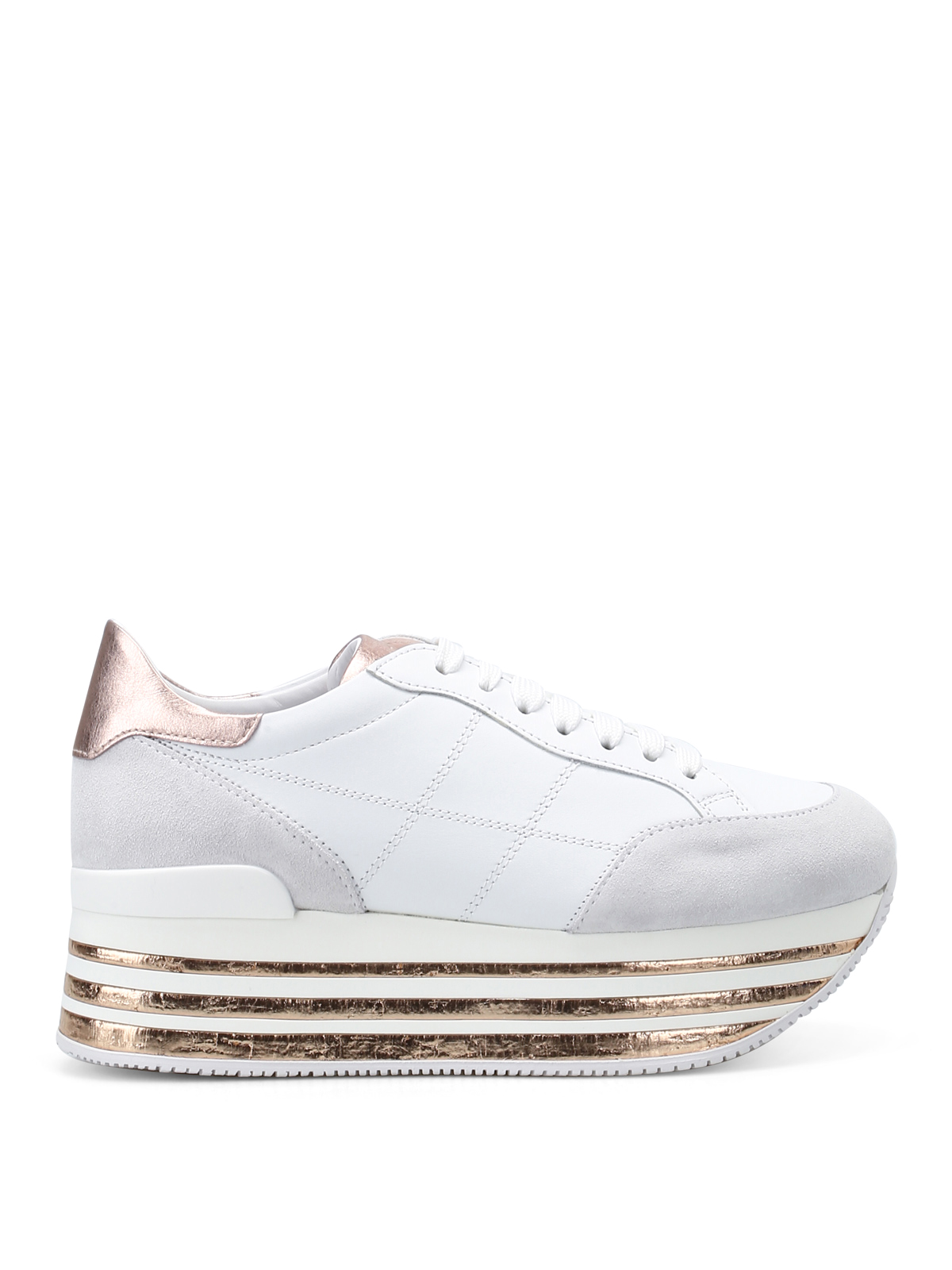Trainers Hogan - Maxi platform two-tone sneakers - HXW3490J061I7X0989
