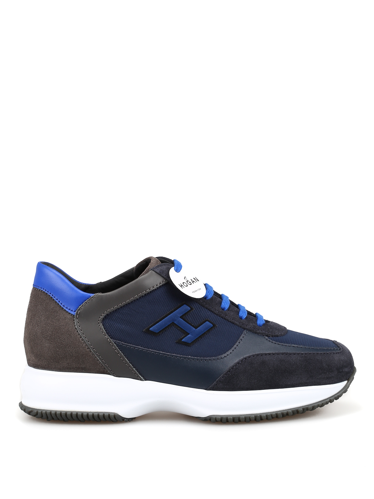 Hogan - New Interactive H Flock blue sneakers - trainers ...