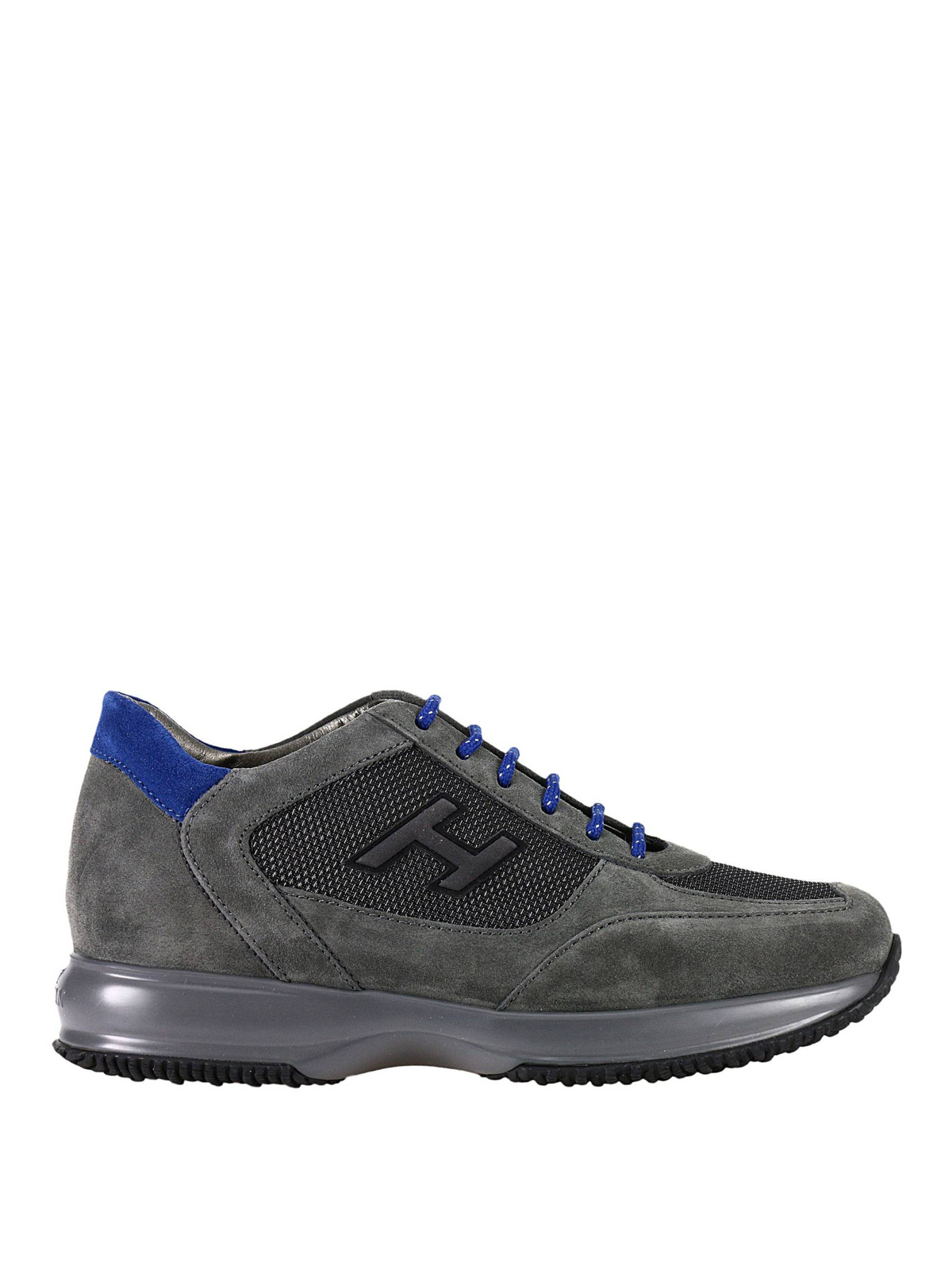 c11847b2ff1f Hogan - New Interactive H Flock grey shoes - trainers ...