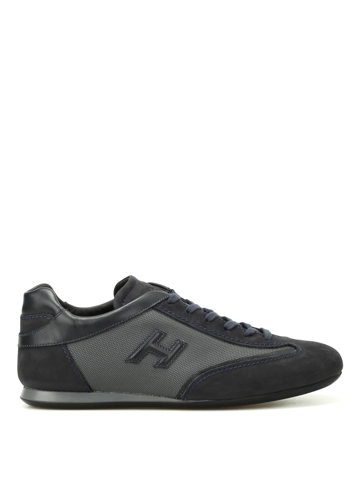 Sneakers Hogan - Olympia blu in nabuk - HXM0570I972H1F356Z   iKRIX.com