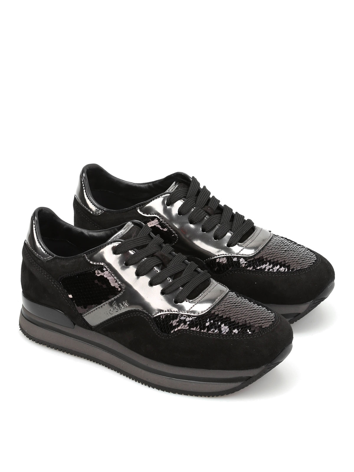 H222 Sequined sneakers Hogan wnh6iQ13V