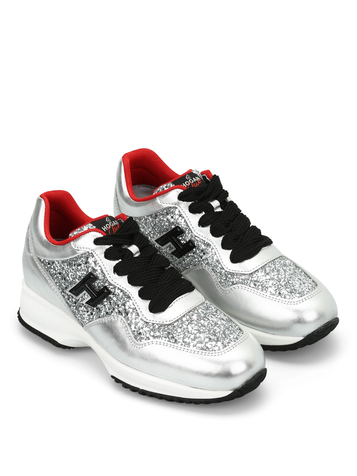 Interactive sneakers with silver glitter Hogan Best Place Cheap Online Marketable Cheapest Price Sale Online jXMGO