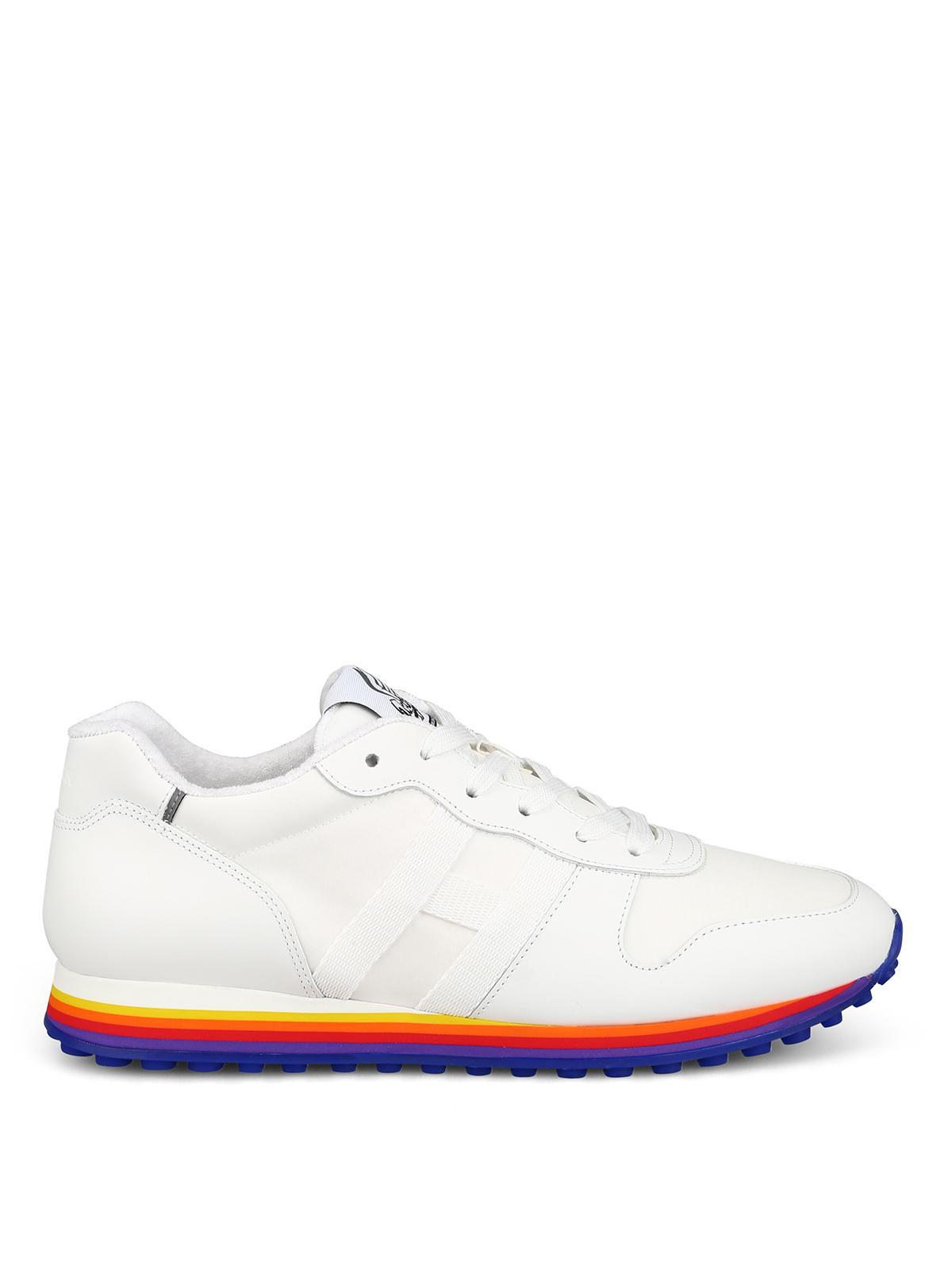 Sneakers Hogan - Sneaker stringate con suola arcobaleno ...