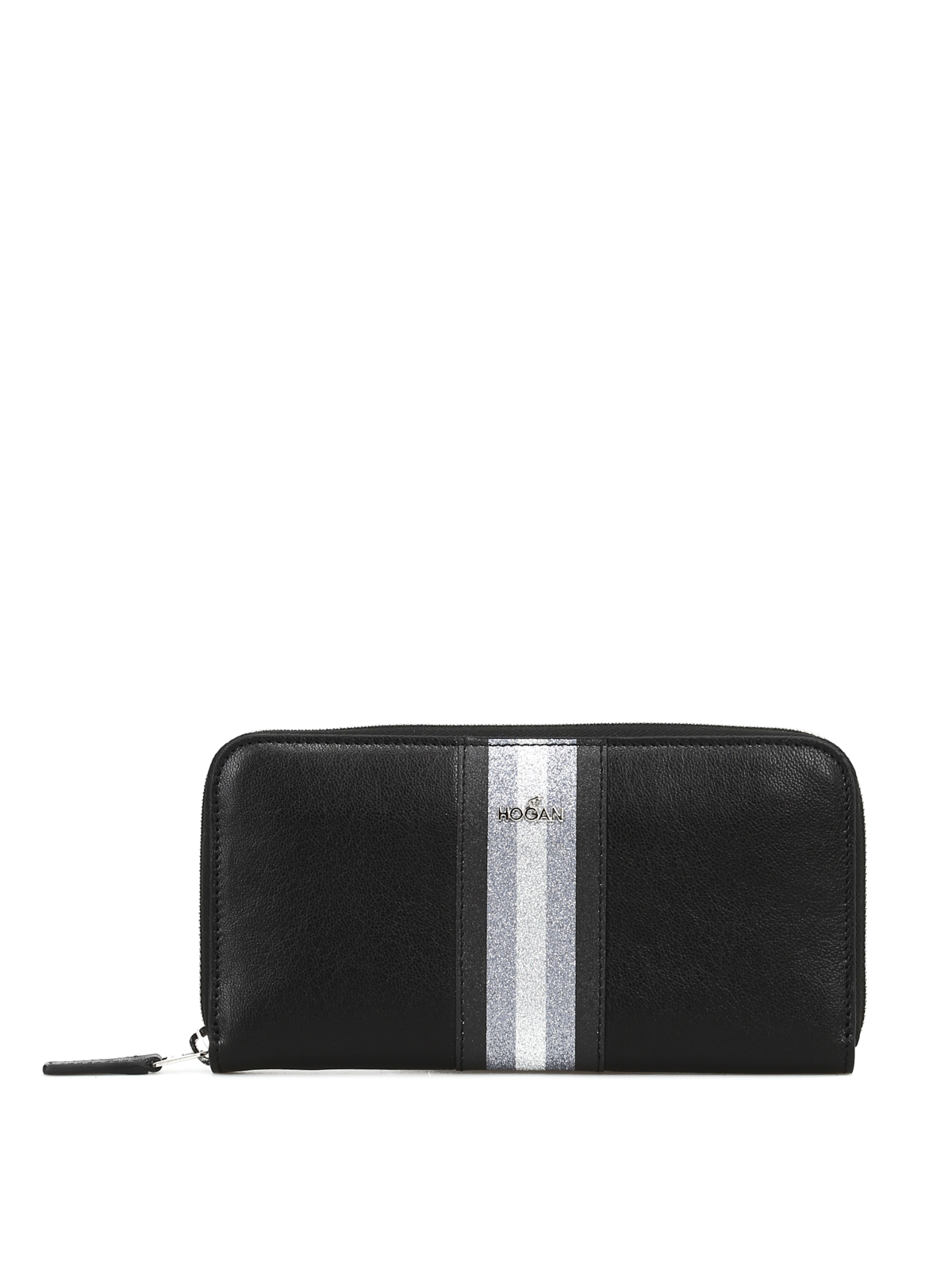 wholesale dealer 01c3d aad0b Hogan - Portafoglio zip-around con banda glitter ...