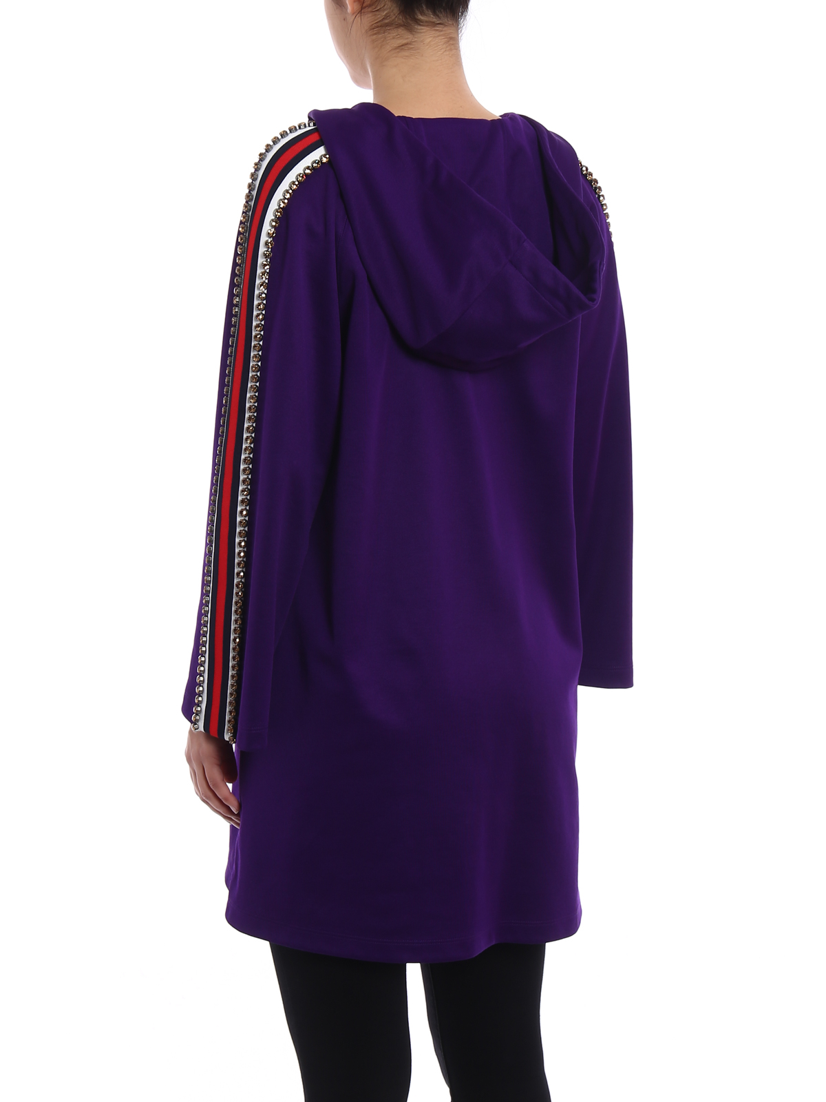 uk availability wide varieties half price Gucci - Hoodie style technical jersey dress - short dresses - WF0 ...