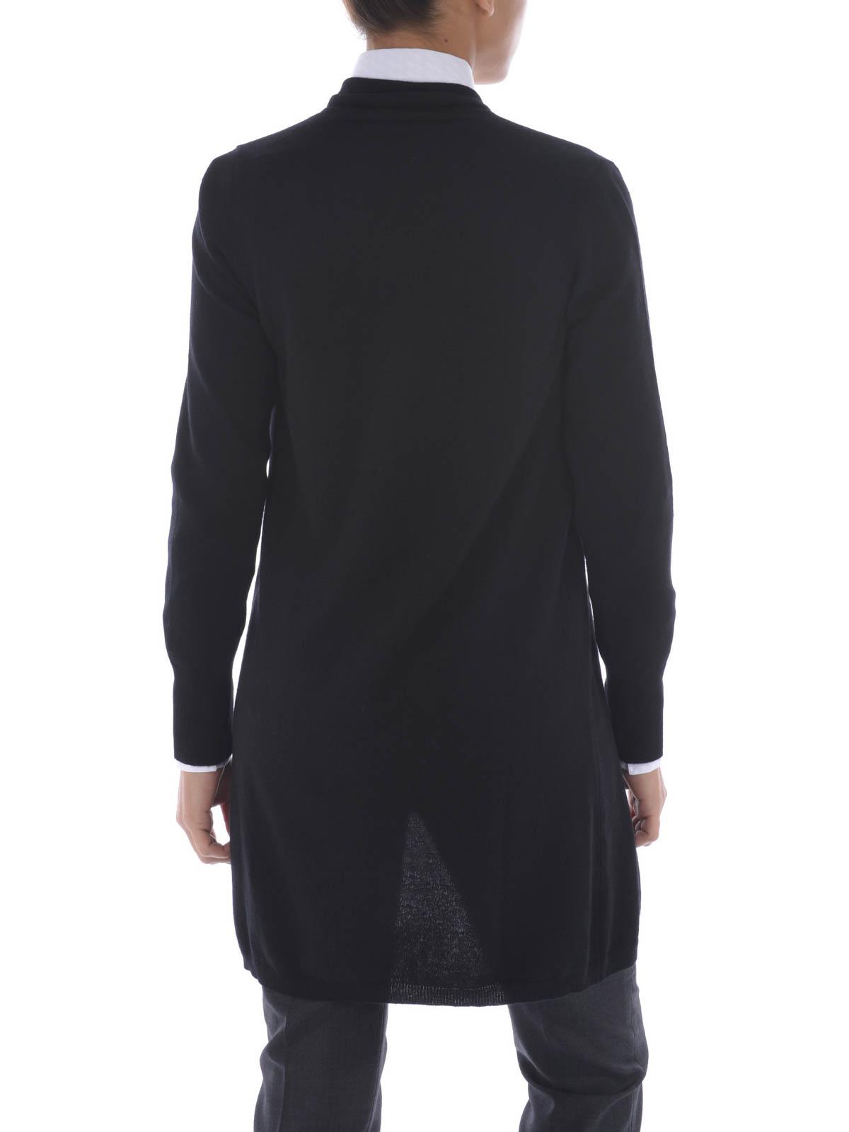 Hook fastened wool maxi cardigan by Fay - cardigans | iKRIX