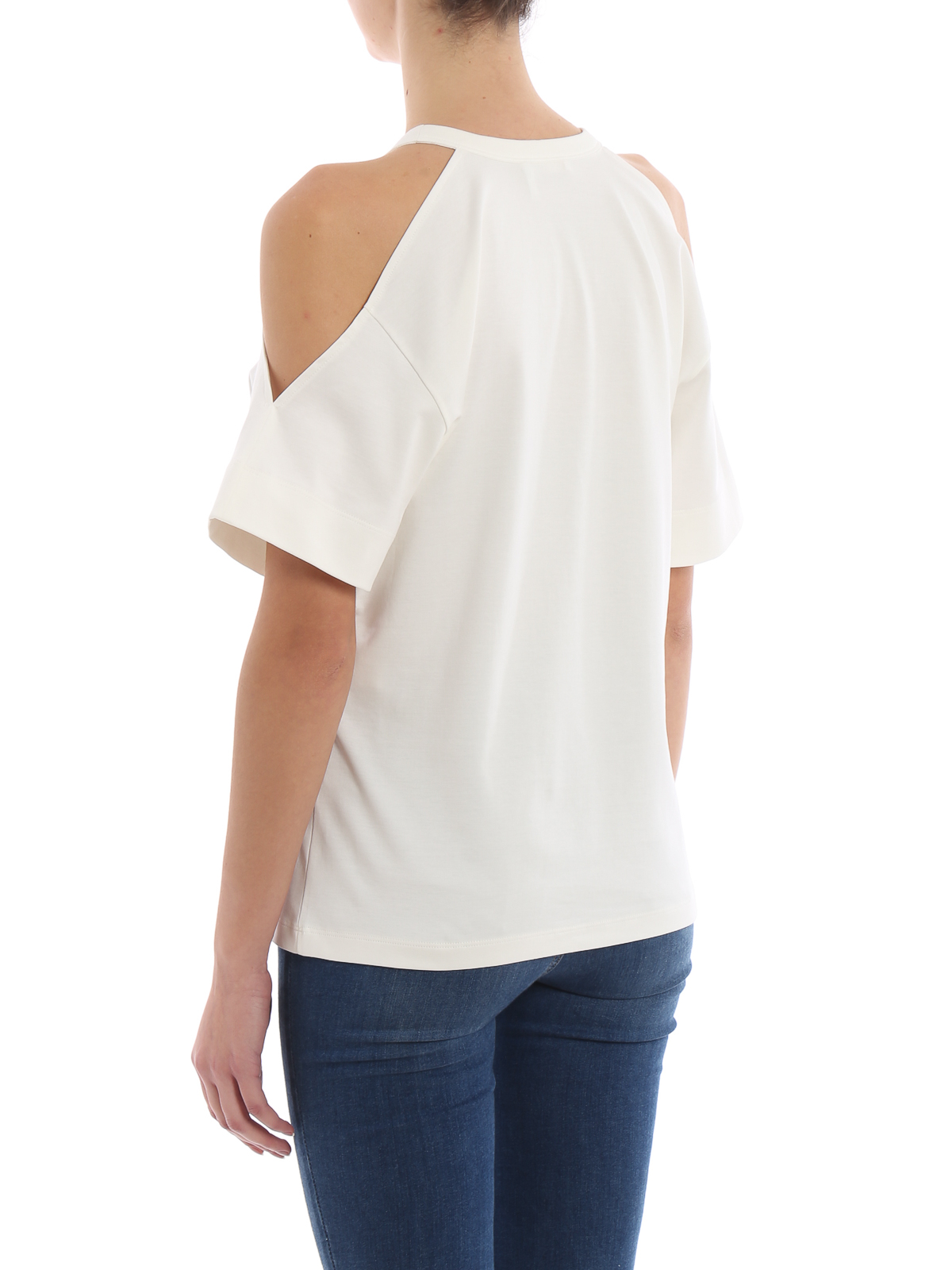 558d2fd3 Chloe' - Horse print cut-out detail T-shirt - t-shirts ...
