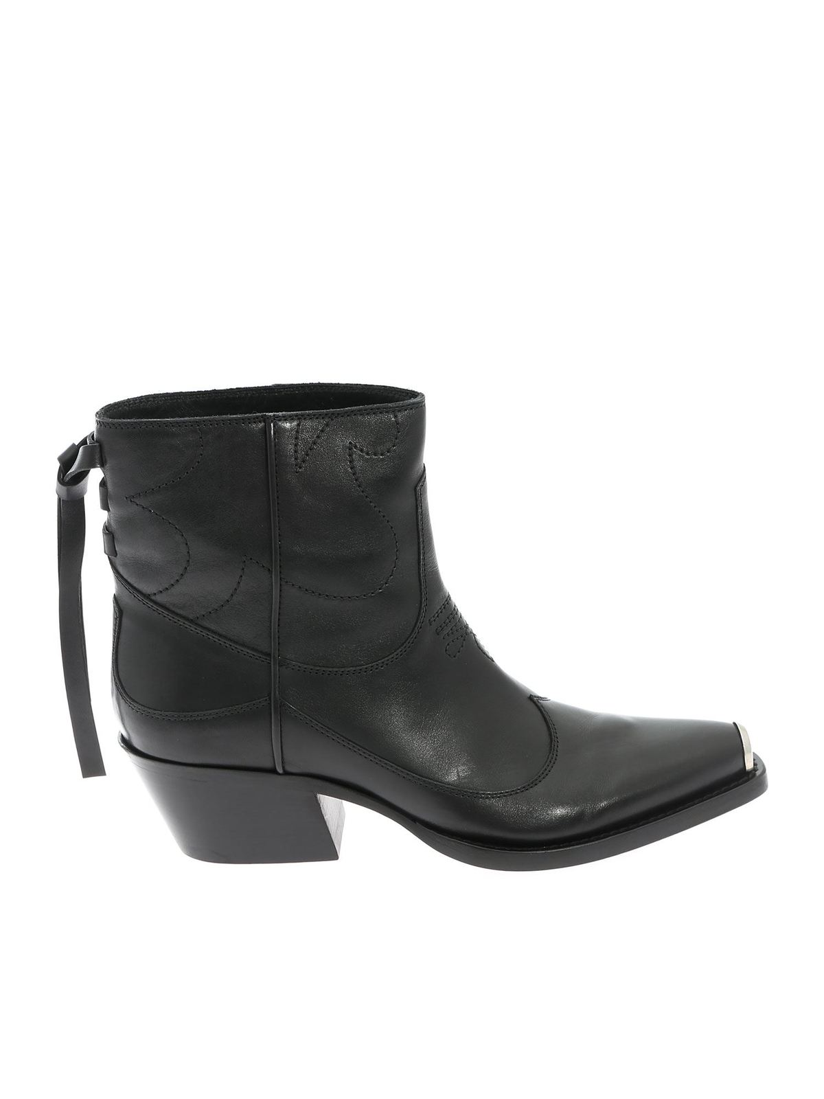 Htc TEXAN LOW ANKLE BOOT IN BLACK