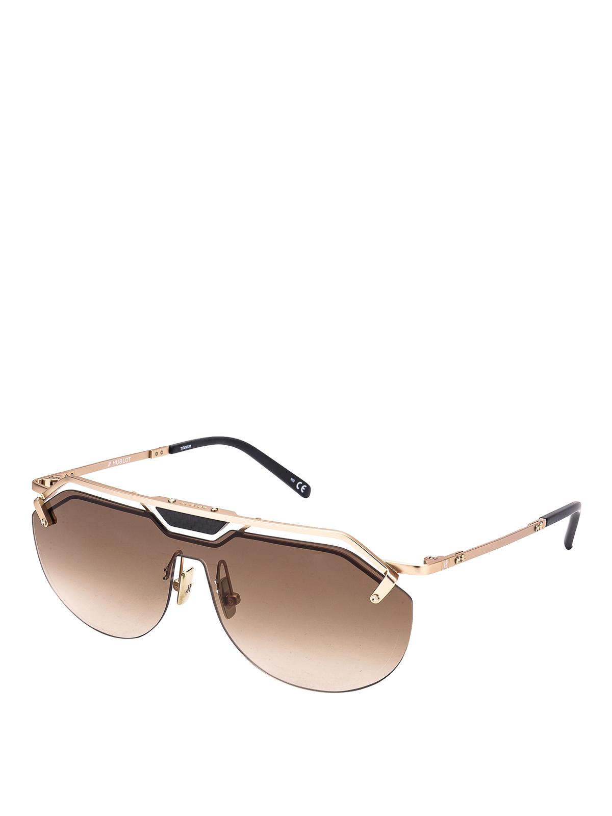 Hublot Gold-Tone Titanium Mask Sunglasses