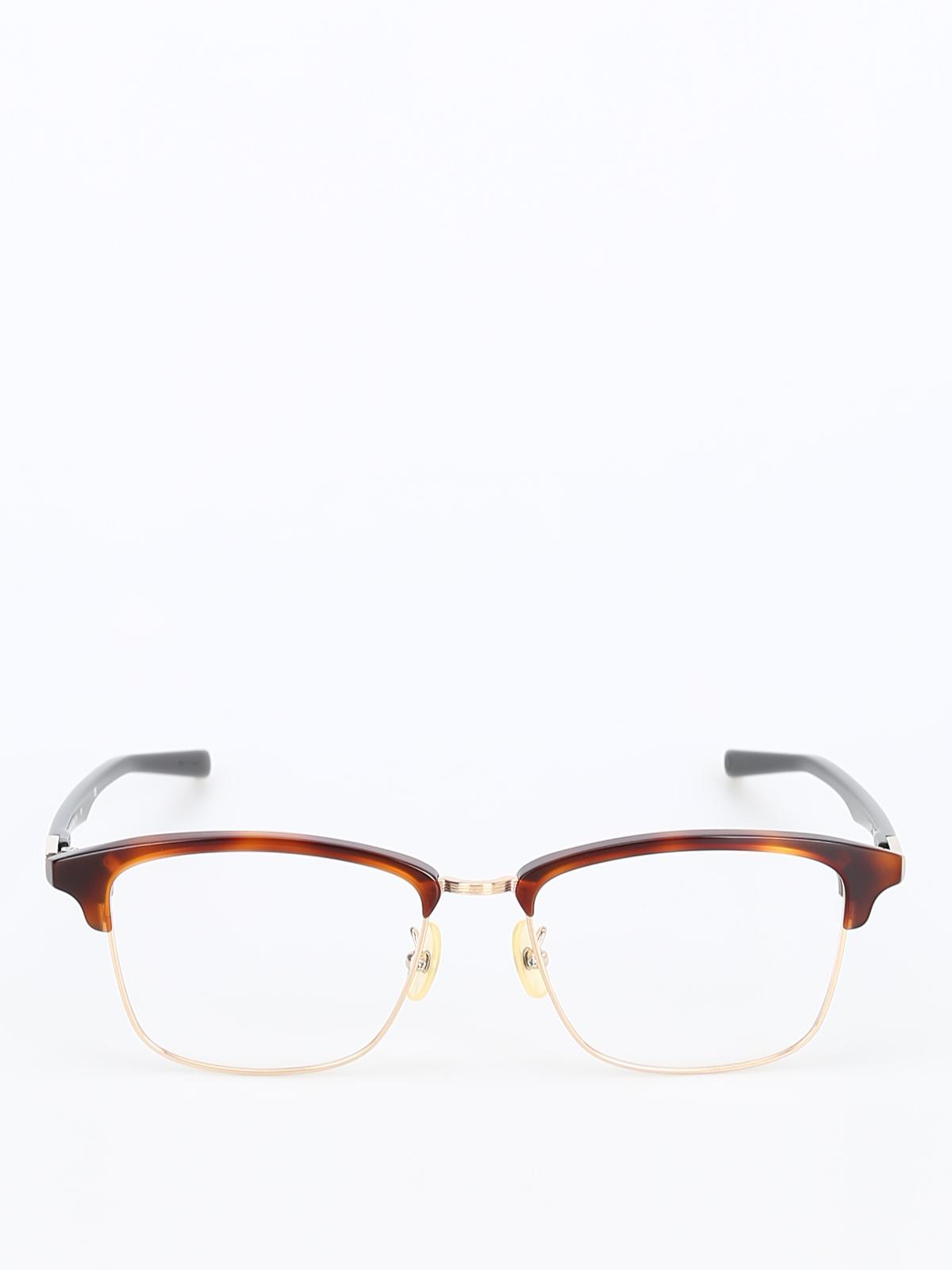 0fcd3d7a00 999.9 four nines - Half frame tortoise eyeglasses - glasses - M-462801