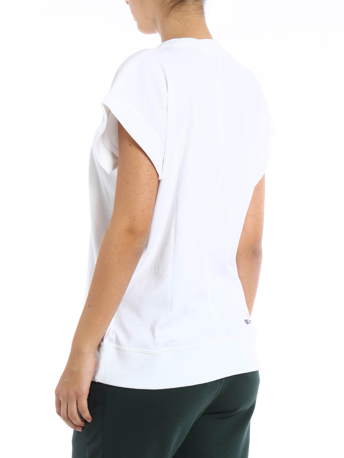 Blanca Camiseta By Adidas Para Mujer Camisetas Stella Mccartney fb76gy