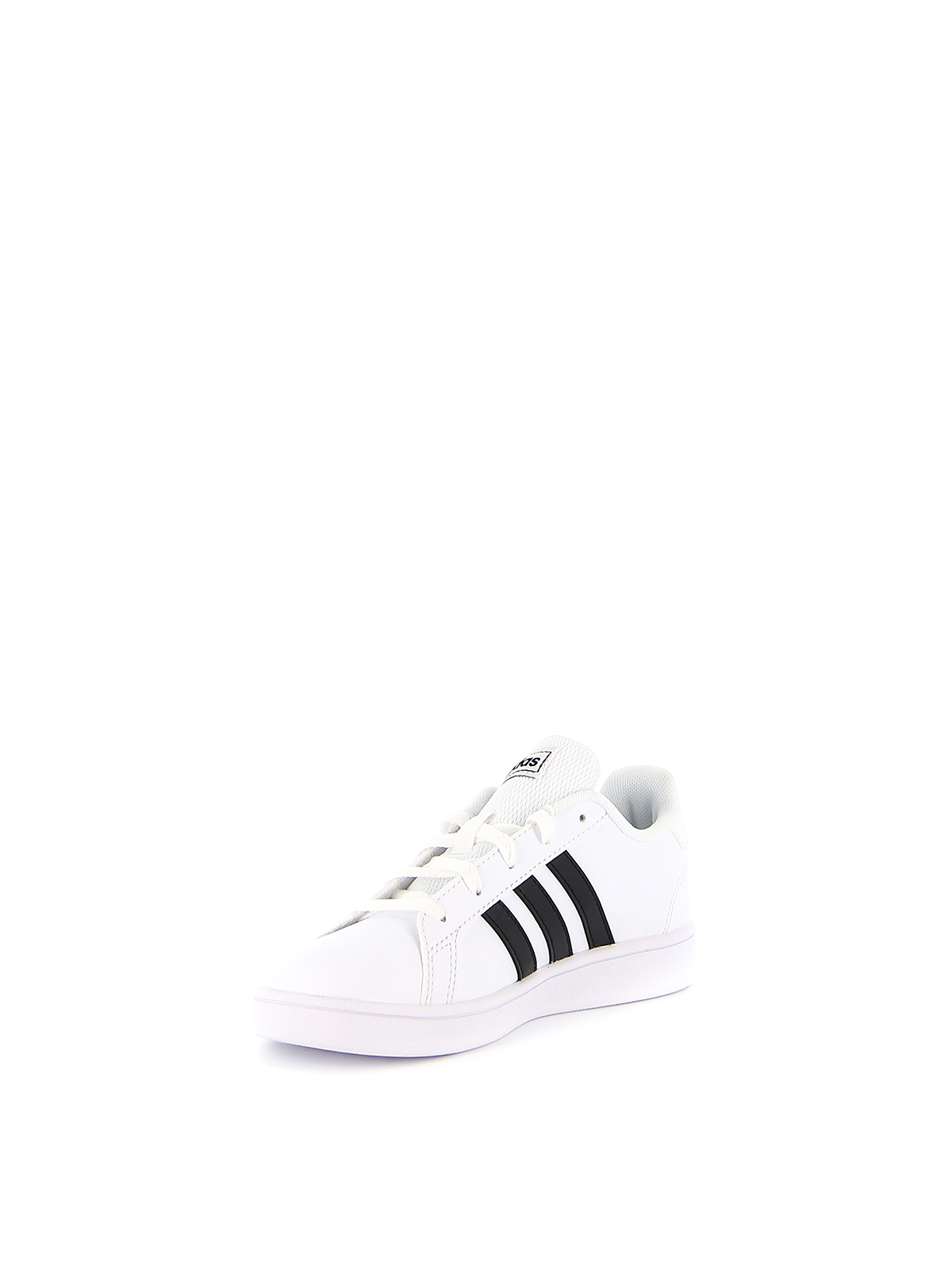 Grand Court K black stripe sneakers