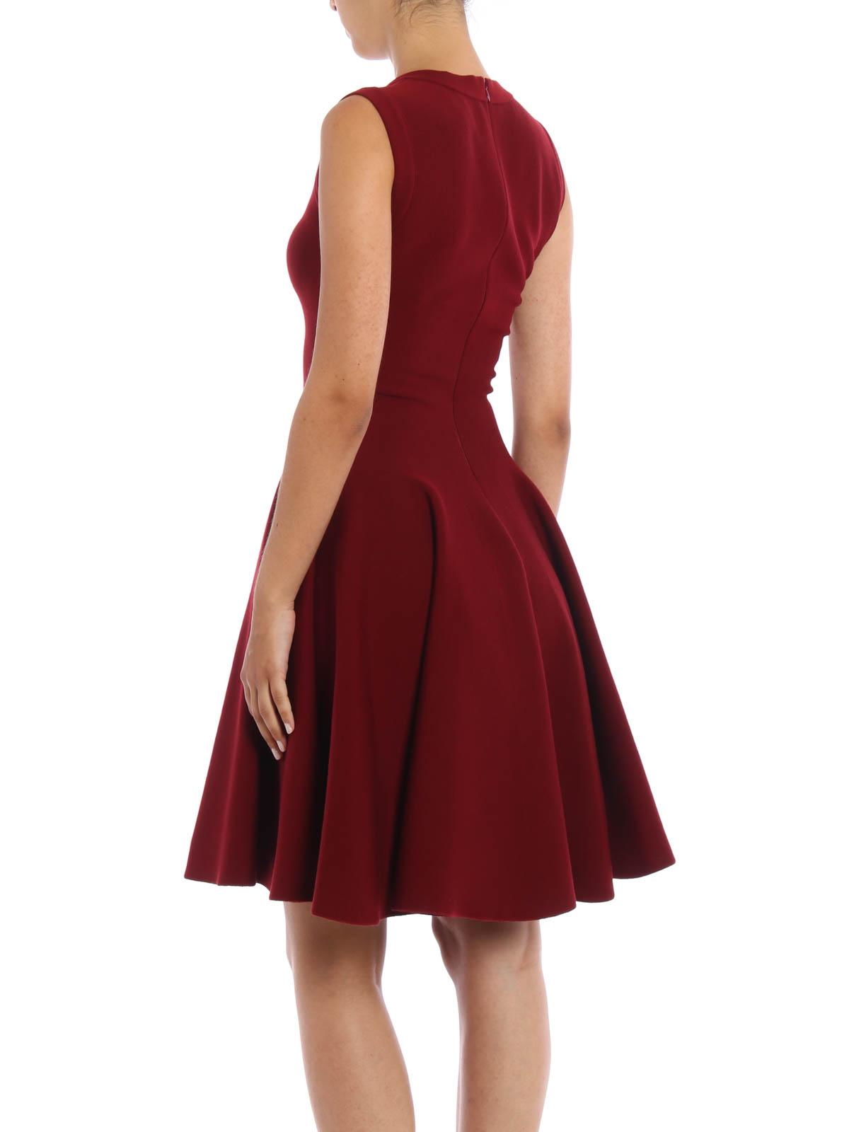 Alaïa - Knielanges Kleid Divine - Dunkelrot - Knielange Kleider