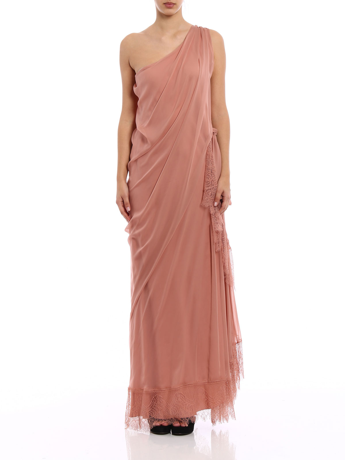 360a17ab867 iKRIX ALBERTA FERRETTI: evening dresses - One shoulder silk draped dress