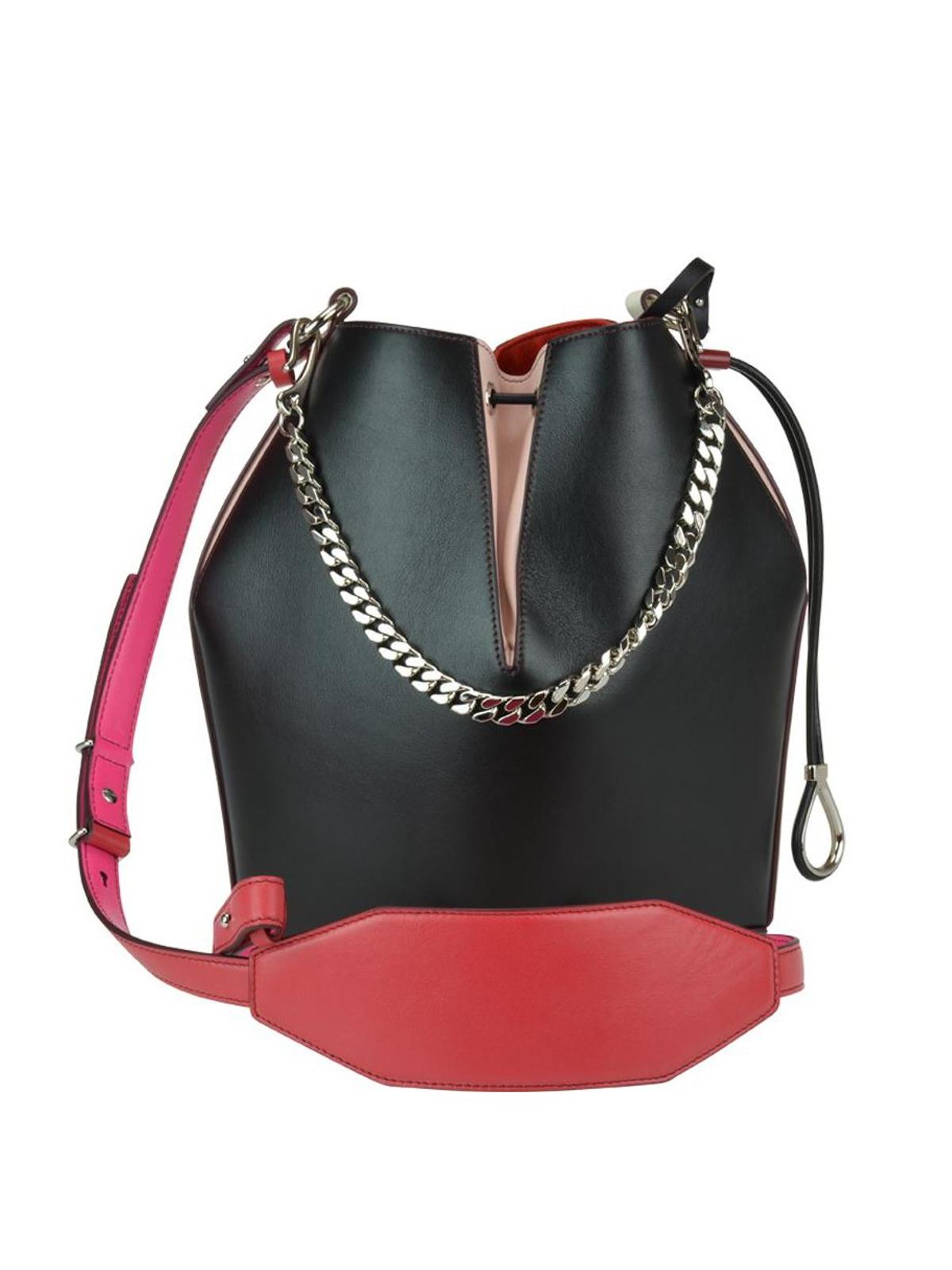 13e49980947 iKRIX ALEXANDER MCQUEEN: Bucket bags - Colour block leather Bucket Bag