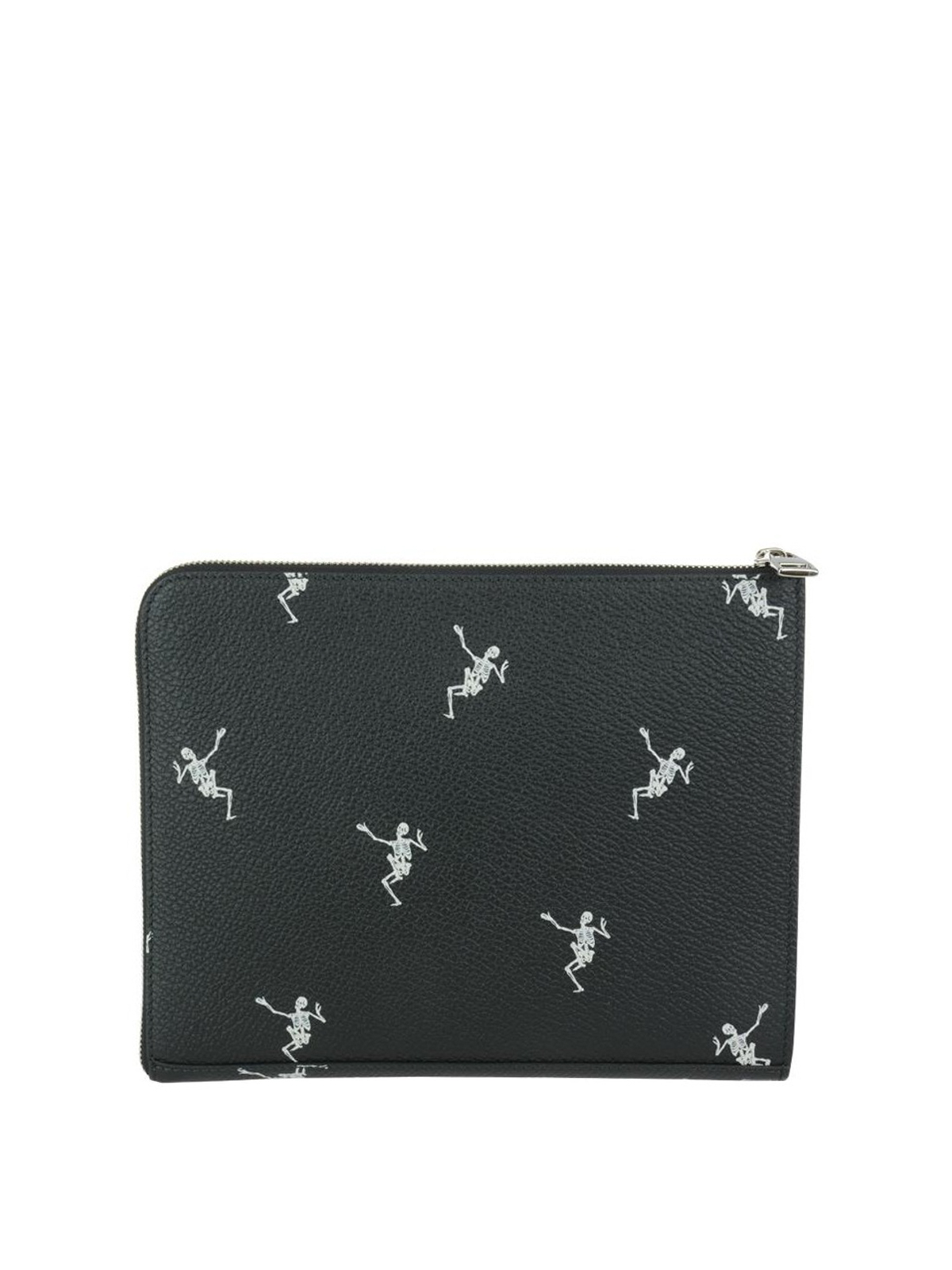 Alexander McQueen Dancing Skeleton leather clutch NR7os