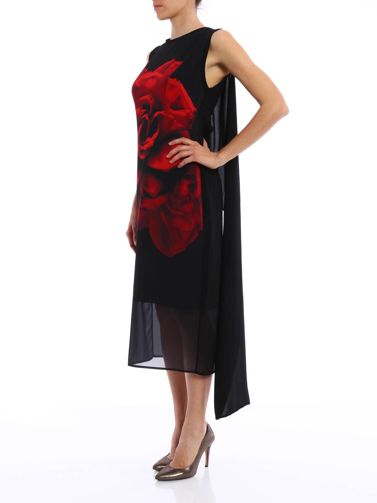 Alexander Mcqueen - Printed midi dress - evening dresses ...
