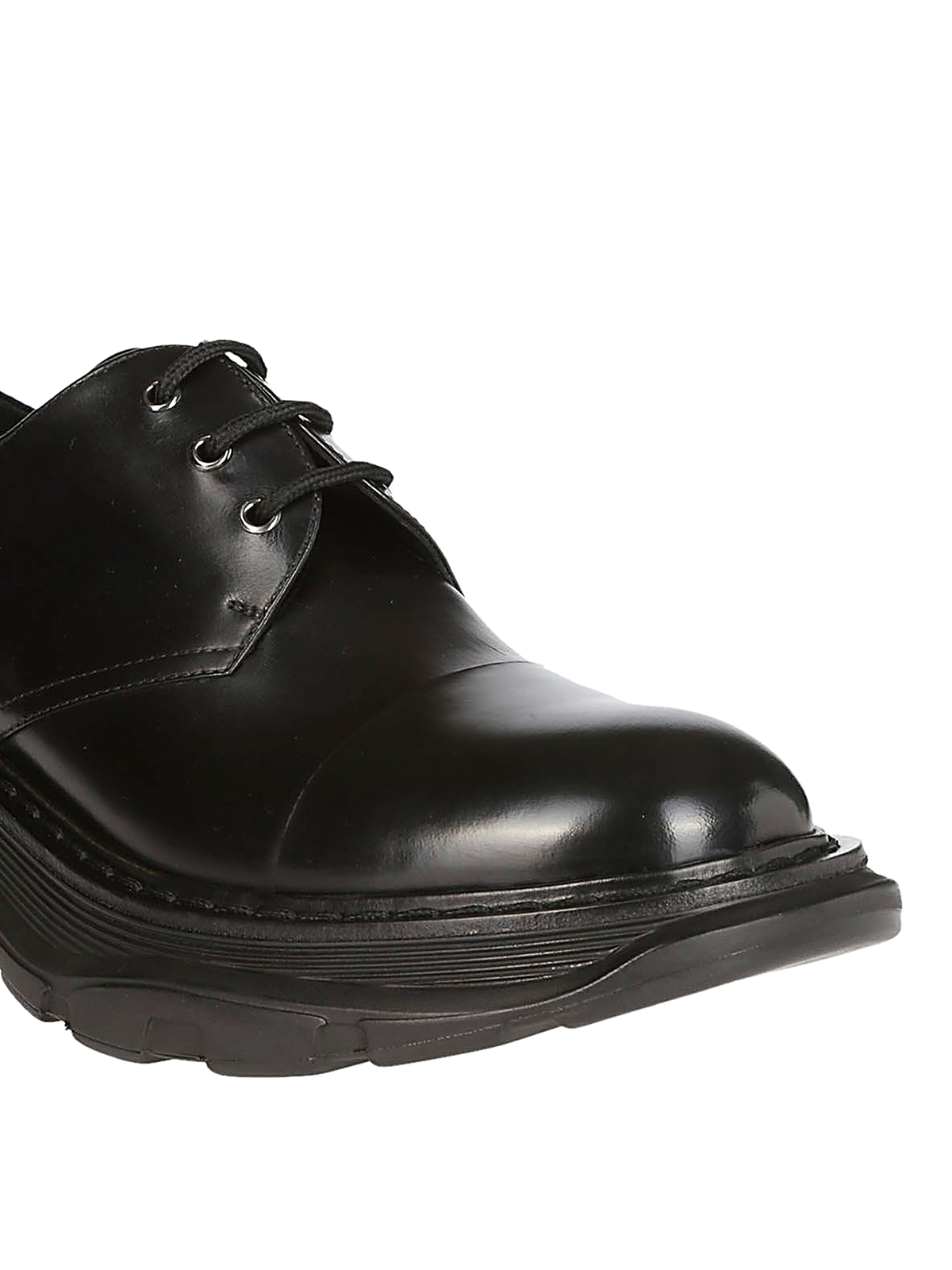 timeless design 72241 08f00 Alexander Mcqueen - Smooth leather tread Derby shoes - lace ...