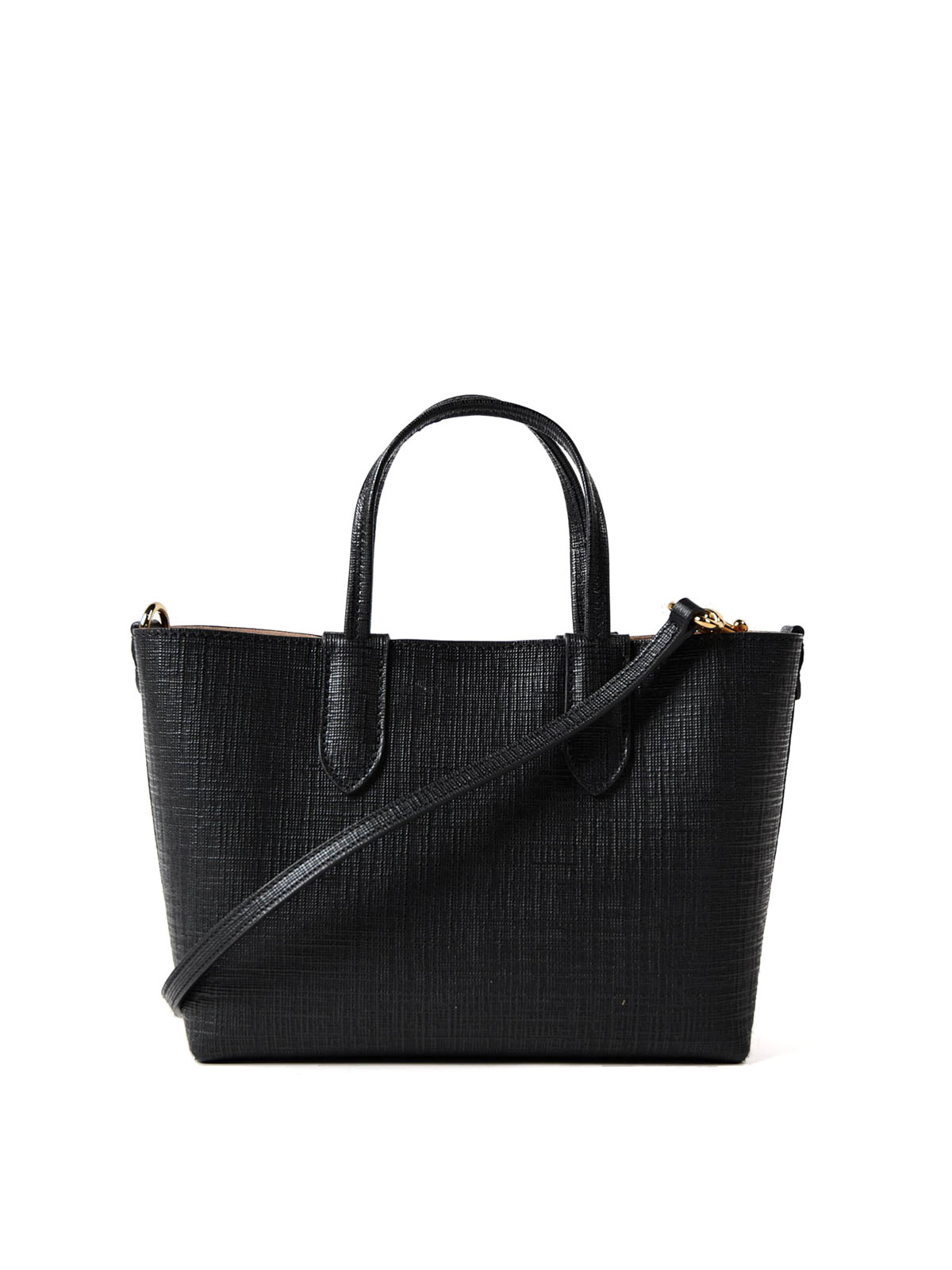 Alexander McQueen Black Saffiano leather Mini Shopper NlrFlfMXRT