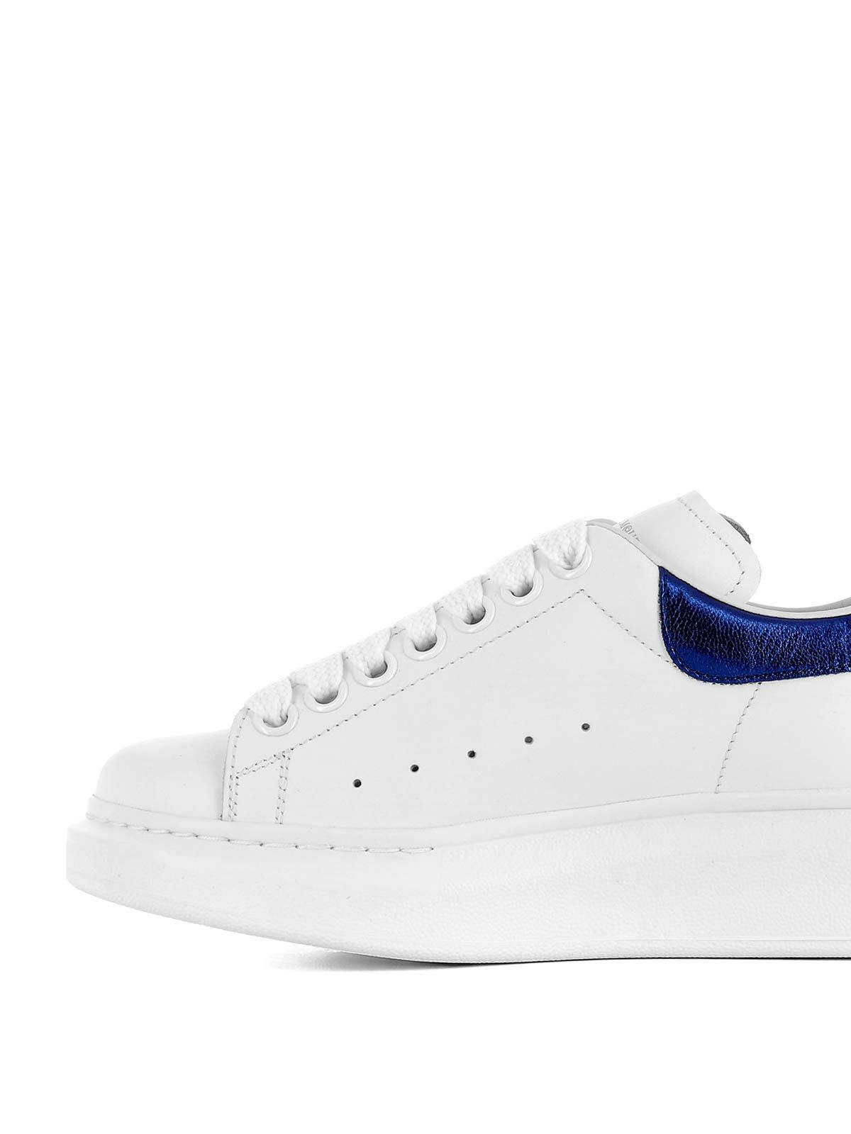 Alexander Mcqueen - Sneaker stringate e inserto blu ...