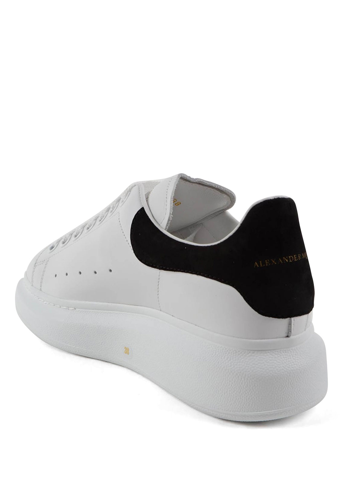 Alexander Mcqueen Maxi Sole Leather Sneakers Trainers