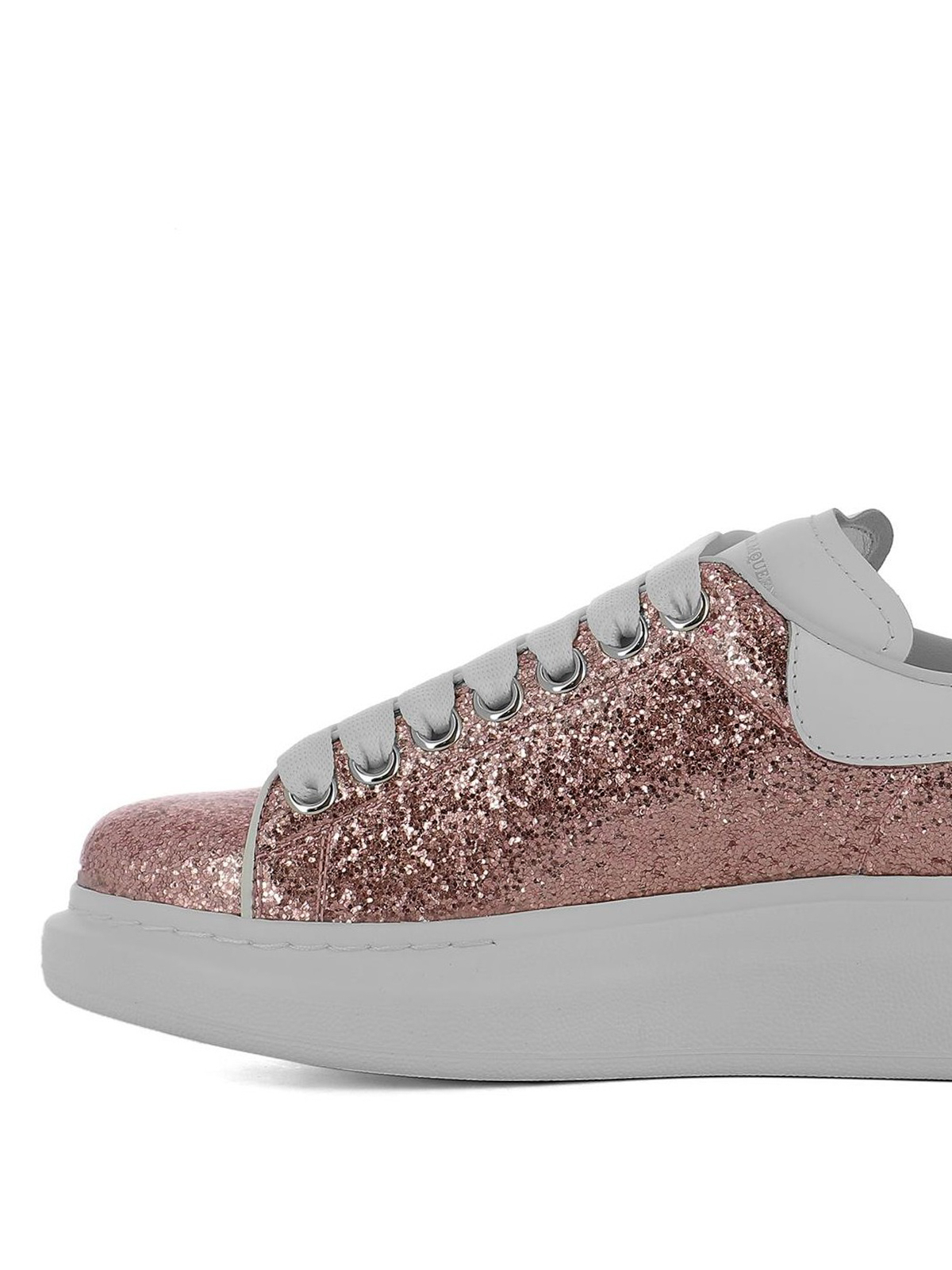 Oversize pink glitter sneakers