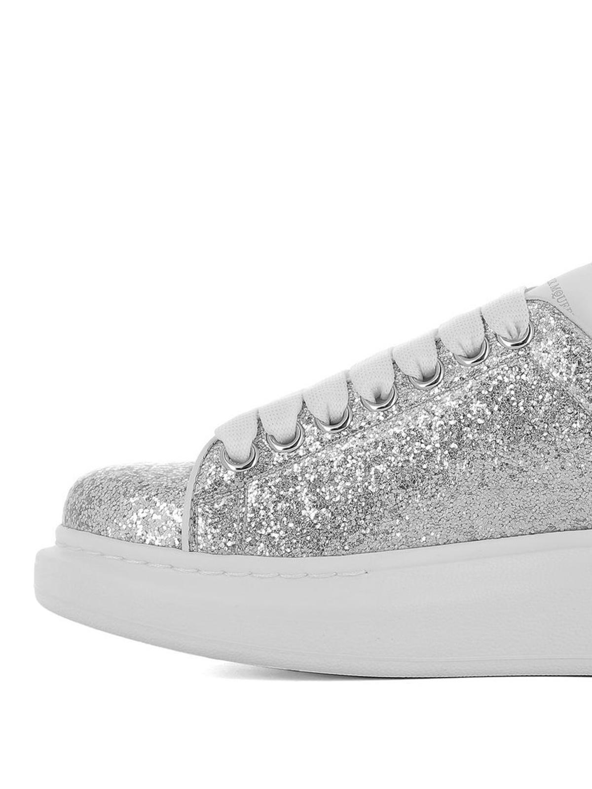 Alexander Mcqueen - Sneaker Oversize in glitter argento ...