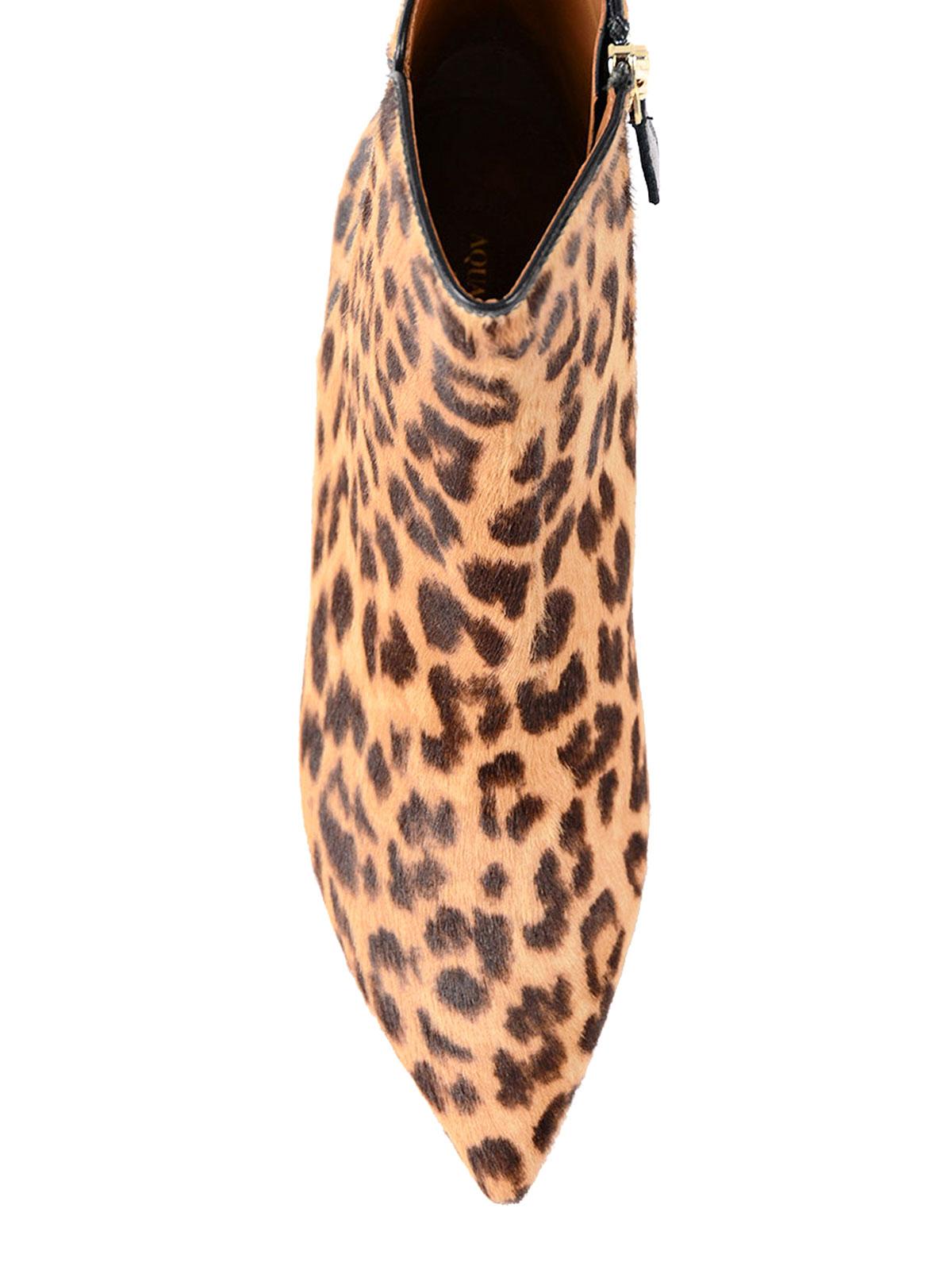 048d45e41263 iKRIX Aquazzura: ankle boots - Quant Leo print calf hair booties