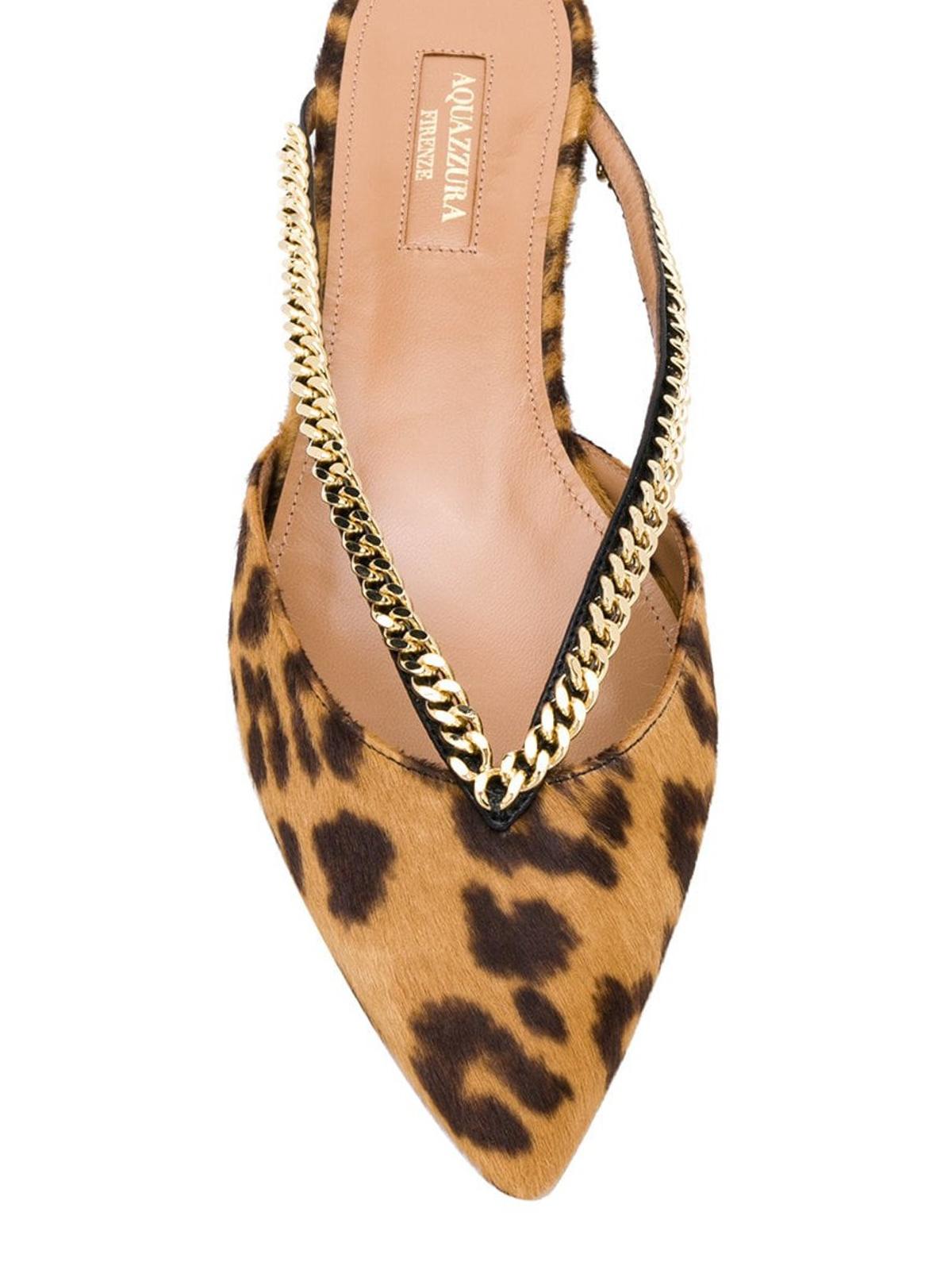 Aquazzura - Leather Sabine slippers