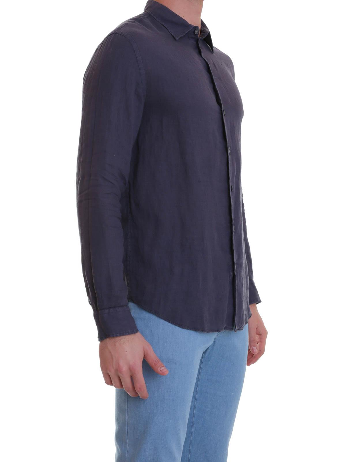 b6686774c643 SÉLECTION SPÉCIALE DENIM. Femme · Homme. iKRIX ARMANI COLLEZIONI  Chemises  - Chemise Bleu Foncé Pour Homme