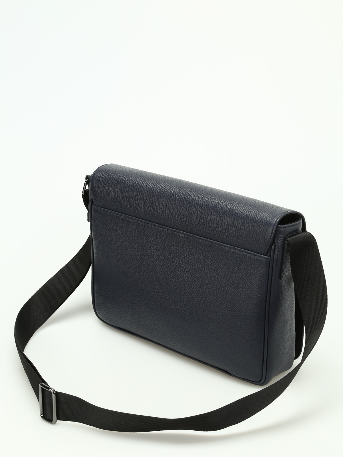 iKRIX ARMANI COLLEZIONI  shoulder bags - Hammered leather messenger bag 1b96778714be4