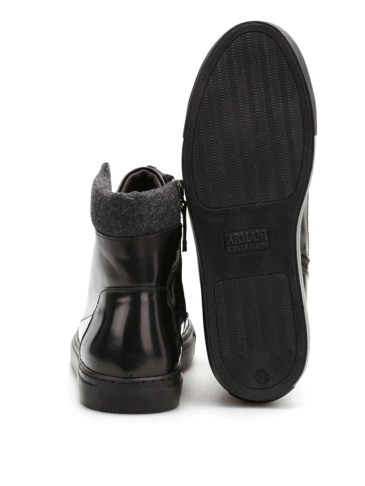 Armani Collezioni - Leather high top